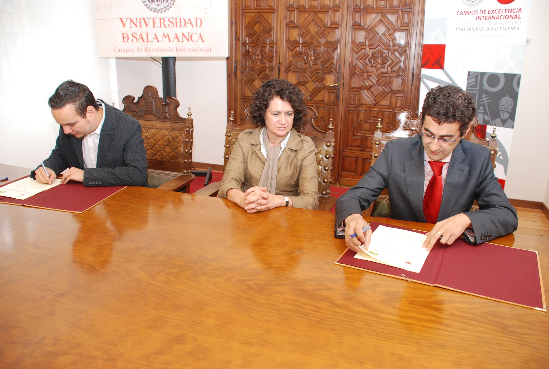 El Parque Científico de la Universidad de Salamanca suscribe un convenio con la empresa tecnológica Display Digital