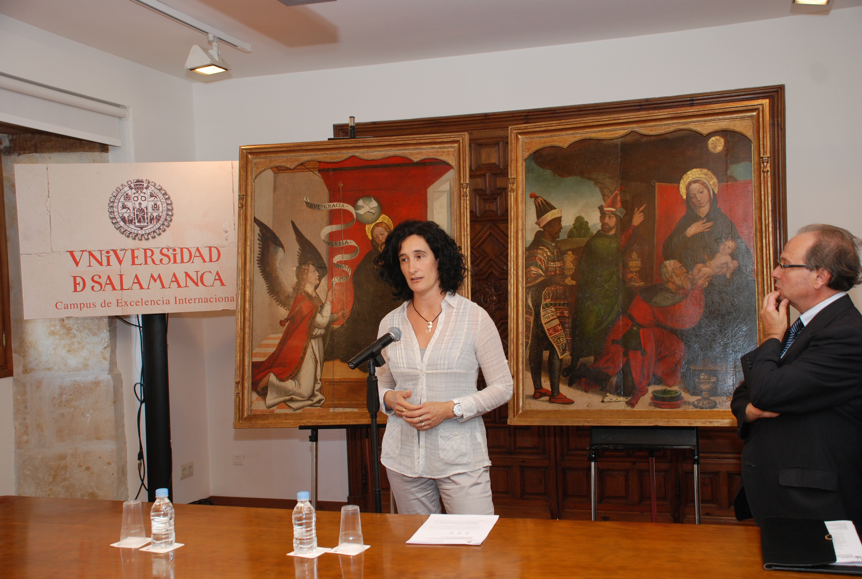 El Centro de Conservación de Bienes Culturales de Castilla y León restaura para la Universidad las tablas de Juan de Borgoña, 'La Anunciación' y 'La Adoración de los Magos'
