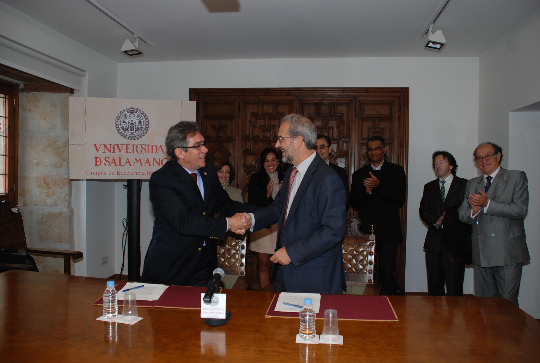 Los rectores de la Universidad de Salamanca y la Universidad Federal de Campina Grande suscriben un convenio de colaboración