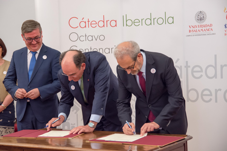 La Cátedra Iberdrola VIII Centenario de la Universidad de Salamanca impulsará la investigación en las áreas de la energía y la sostenibilidad