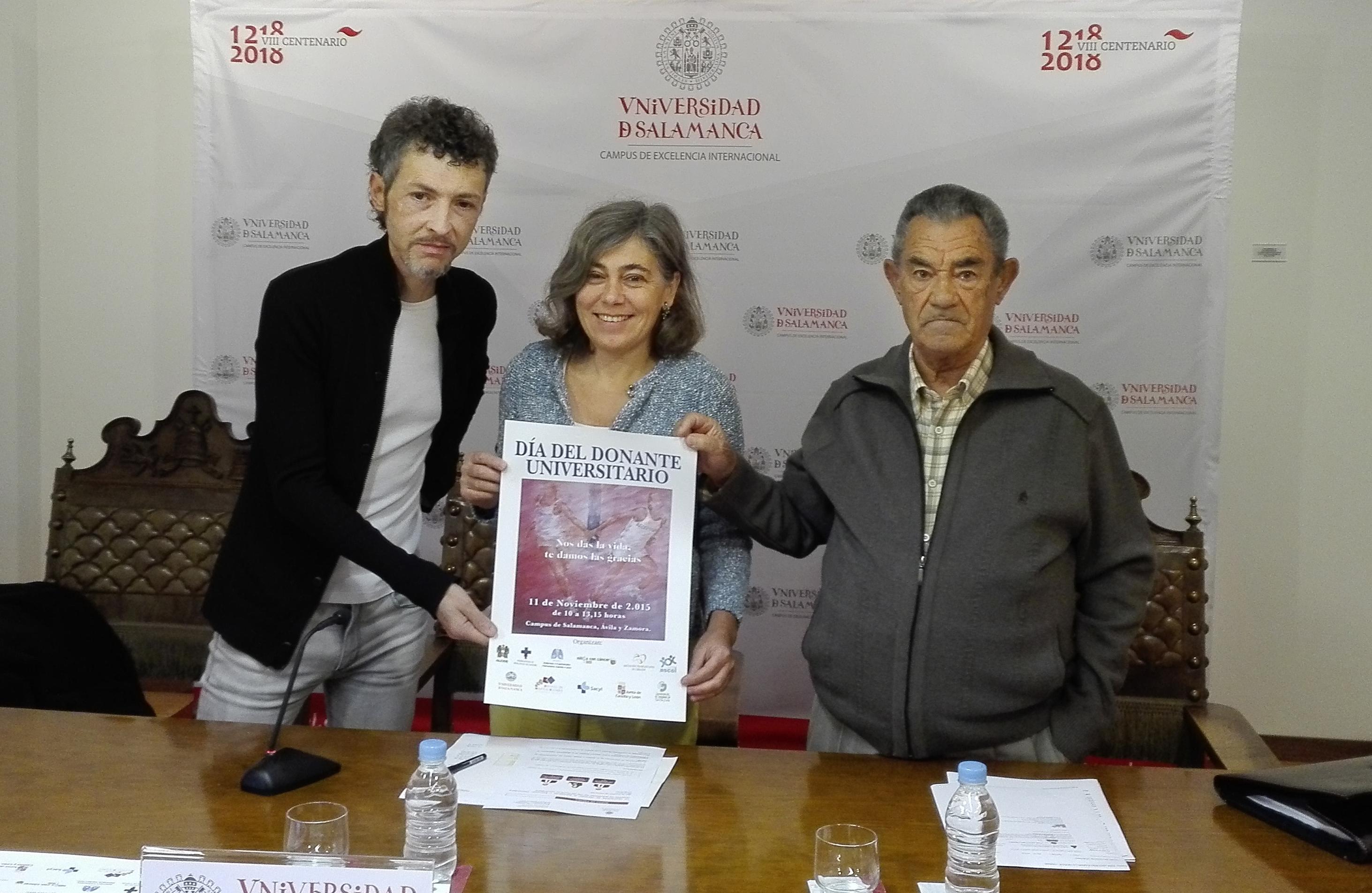 El Día del Donante Universitario contará con mesas informativas en los campus de Ávila, Béjar, Salamanca y Zamora