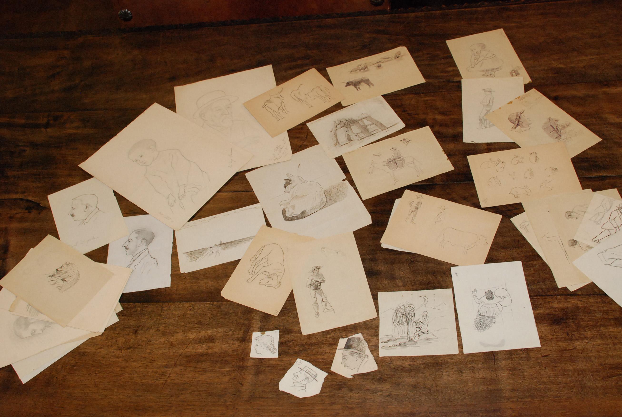 Dibujos inéditos de Unamuno