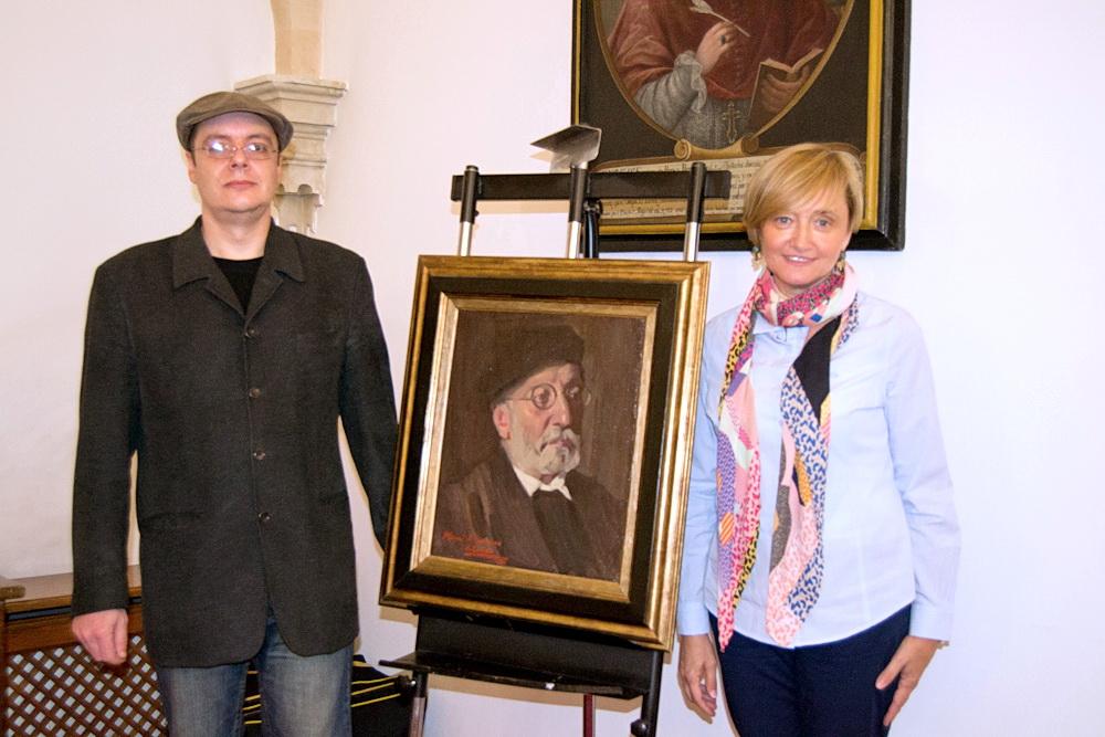 La Casa-Museo Unamuno recibe un retrato del exrector donado por el pintor valenciano Alejandro Cabeza