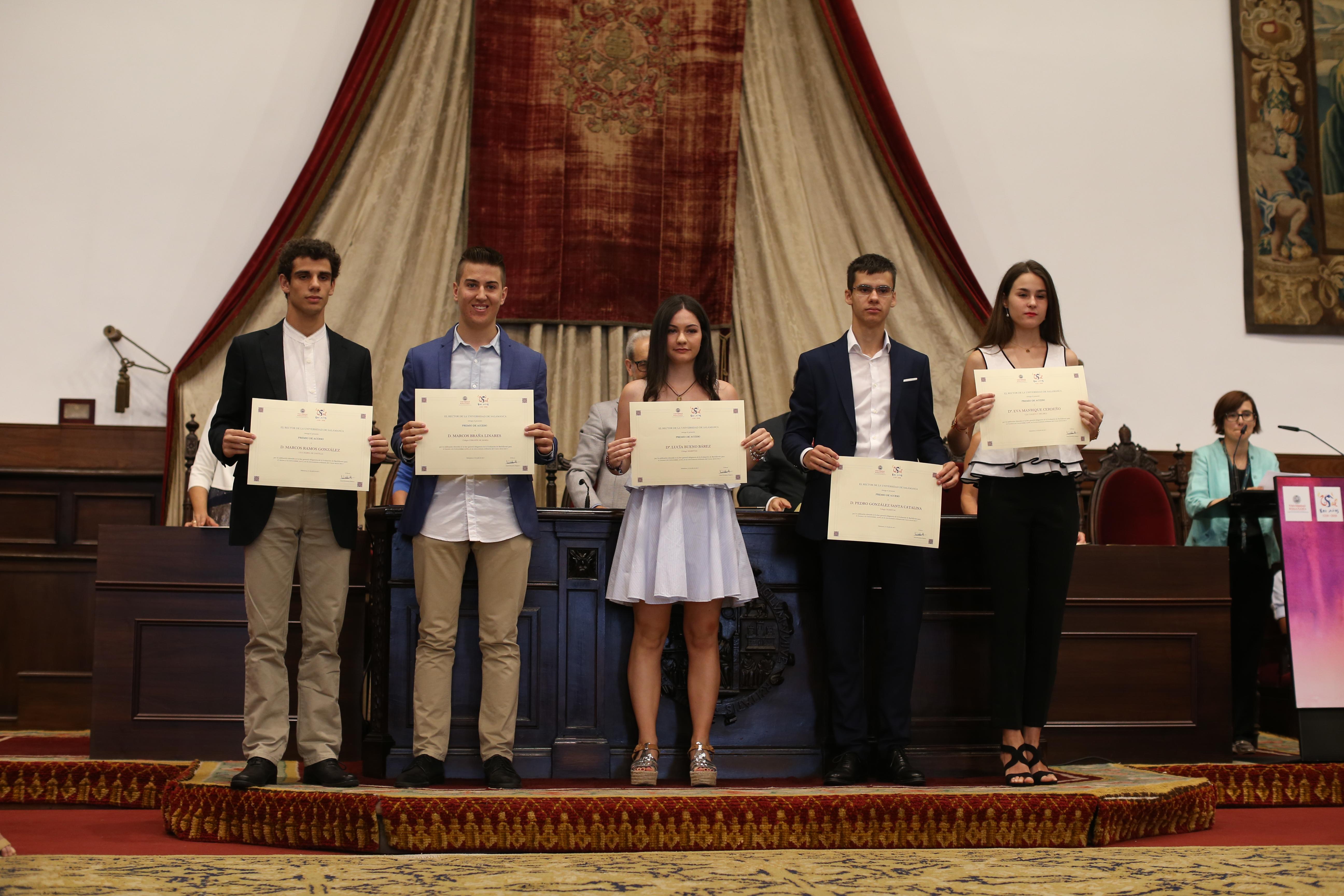 La Universidad de Salamanca premia las 100 mejores notas de la EBAU