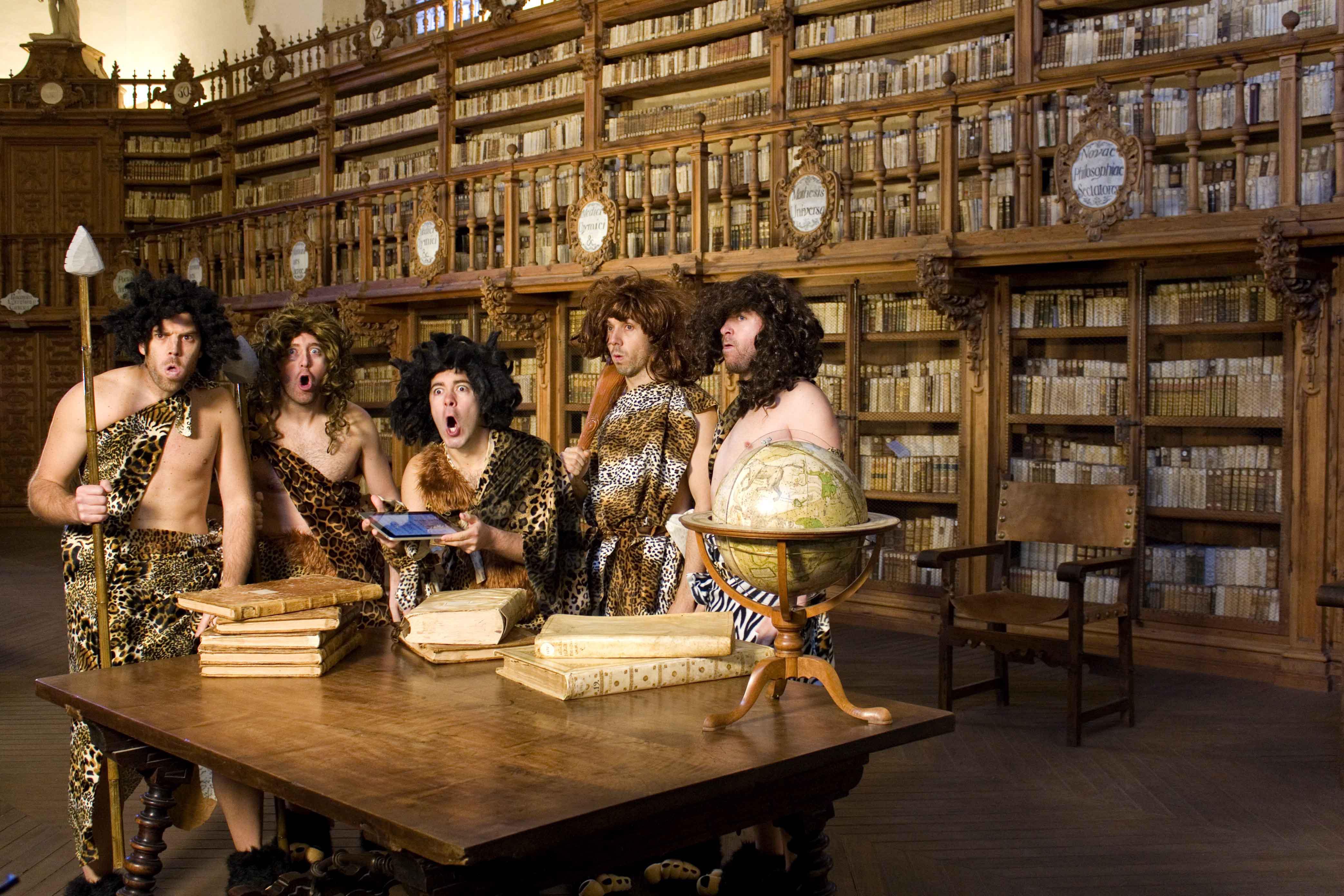La Biblioteca Histórica, escenario de 'Ebook, las edades del libro', un montaje de Spasmo Teatro para la Fundación Germán Sánchez Ruipérez