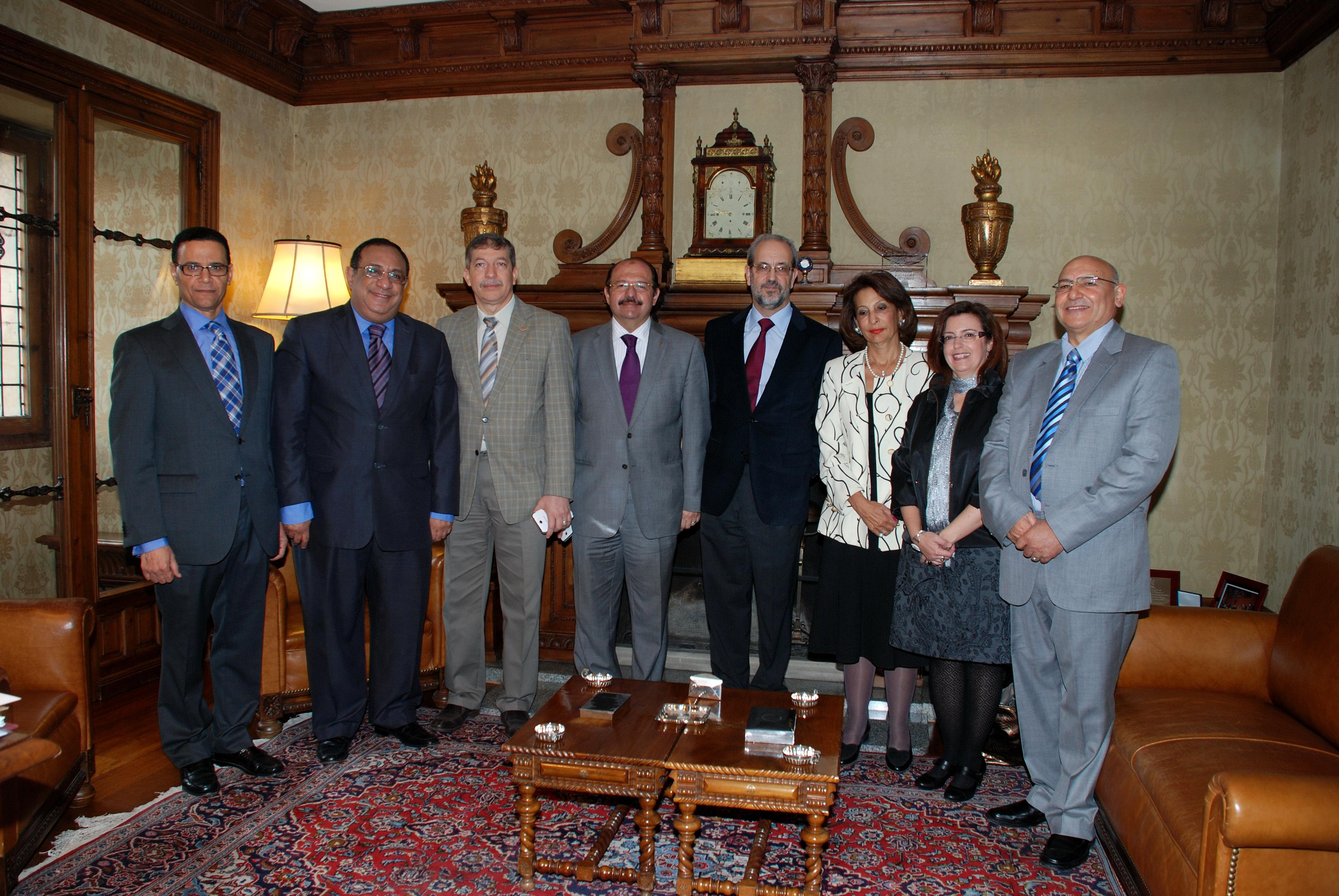 El rector de la Universidad de Salamanca recibe a las universidades egipcias del proyecto TEMPUS-IDELE