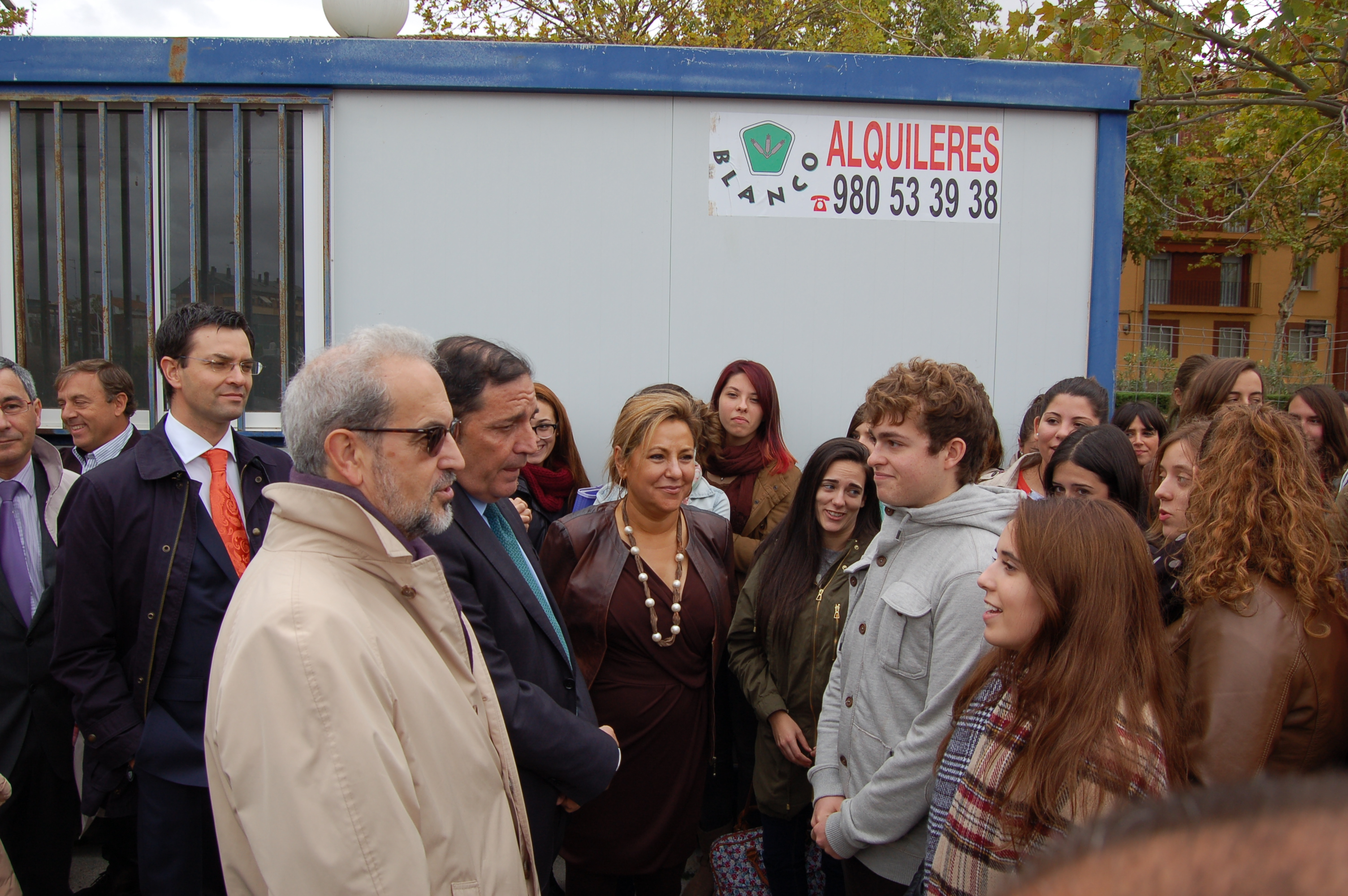 El rector asiste al acto de inicio de obras de la nueva sede de la Escuela Universitaria de Enfermería del Campus Viriato