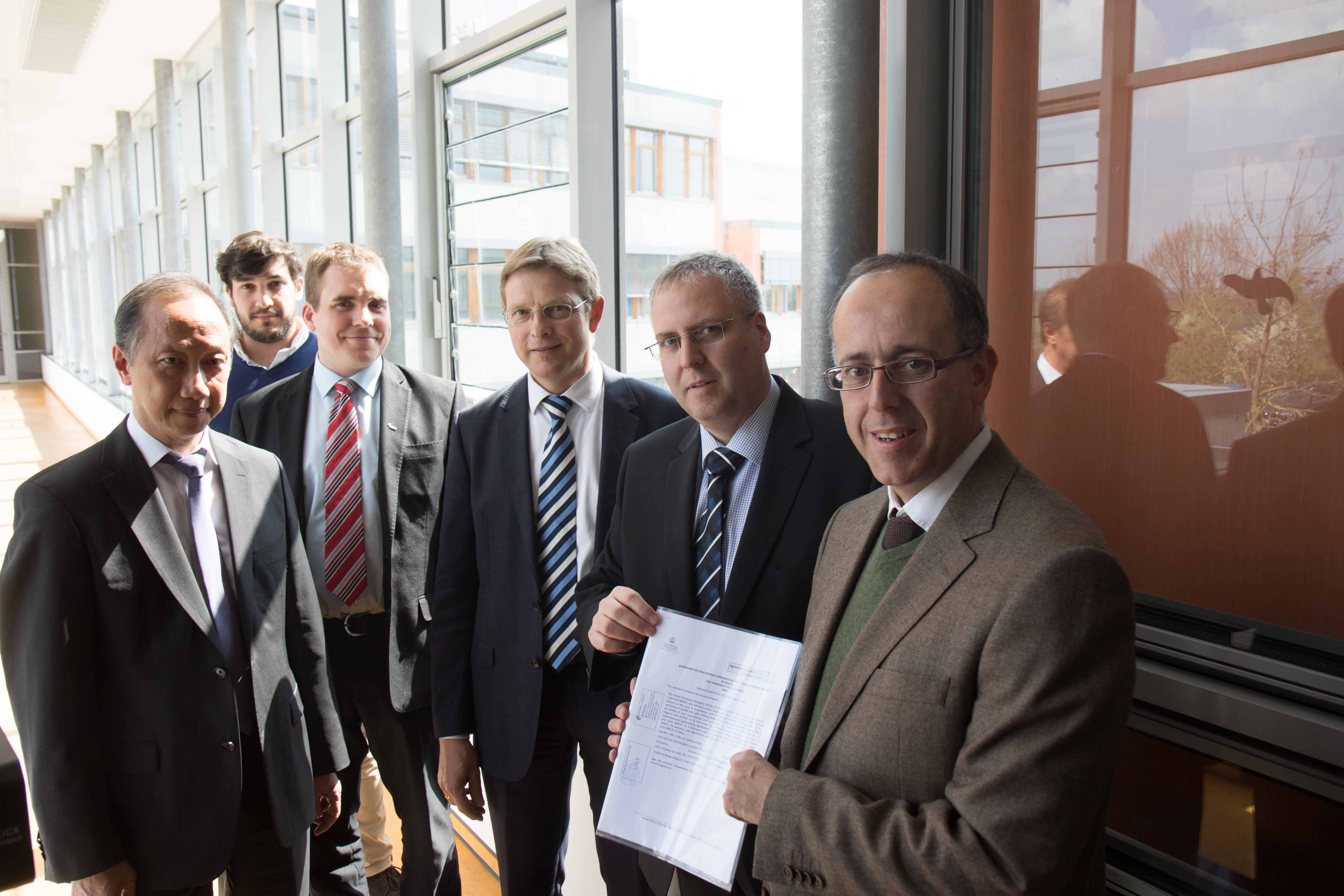 La Universidad de Salamanca suscribe un convenio de cooperación con la empresa alemana Fa. Infosim