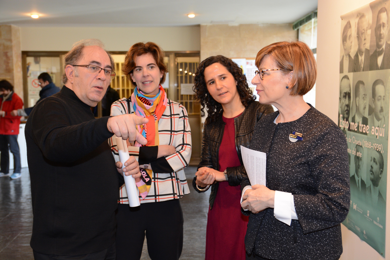 La directora del Museo Nacional de Escultura inaugura en Historia una exposición sobre Ricardo de Orueta