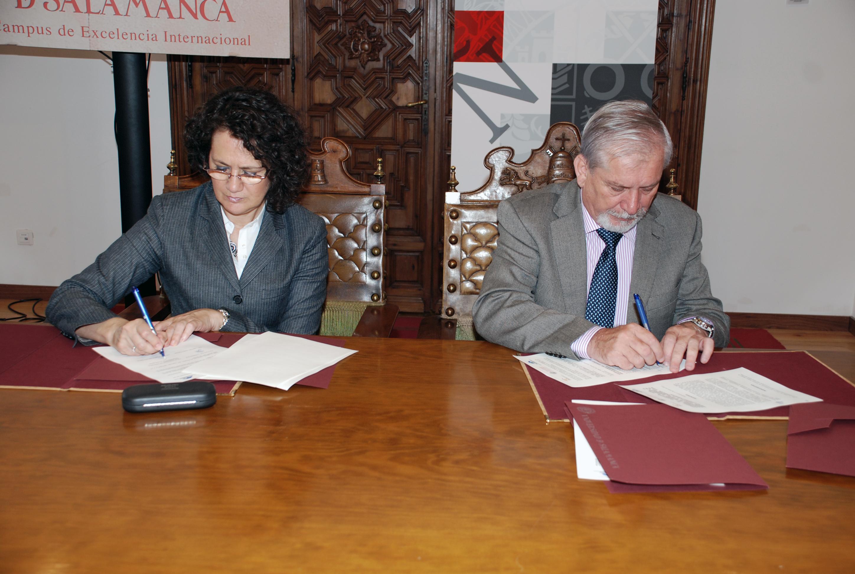 La Universidad de Salamanca, FARPE y Fundaluce firman un acuerdo que posibilitará el contacto entre investigadores y pacientes afectados por enfermedades degenerativas de la retina
