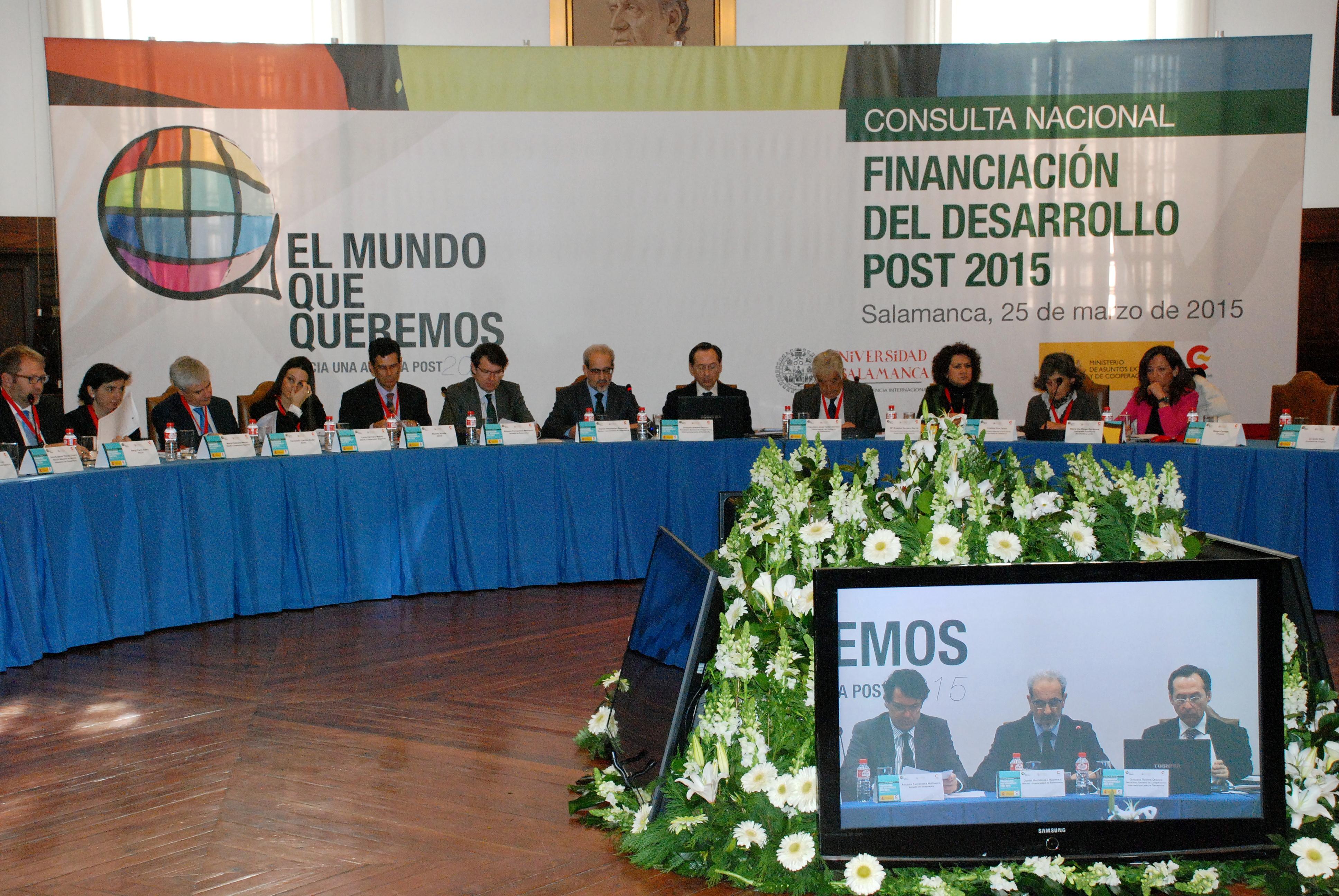 La Universidad de Salamanca acoge el Foro de debate 'Preparando la Conferencia de Financiación del Desarrollo de Addis Abeba'