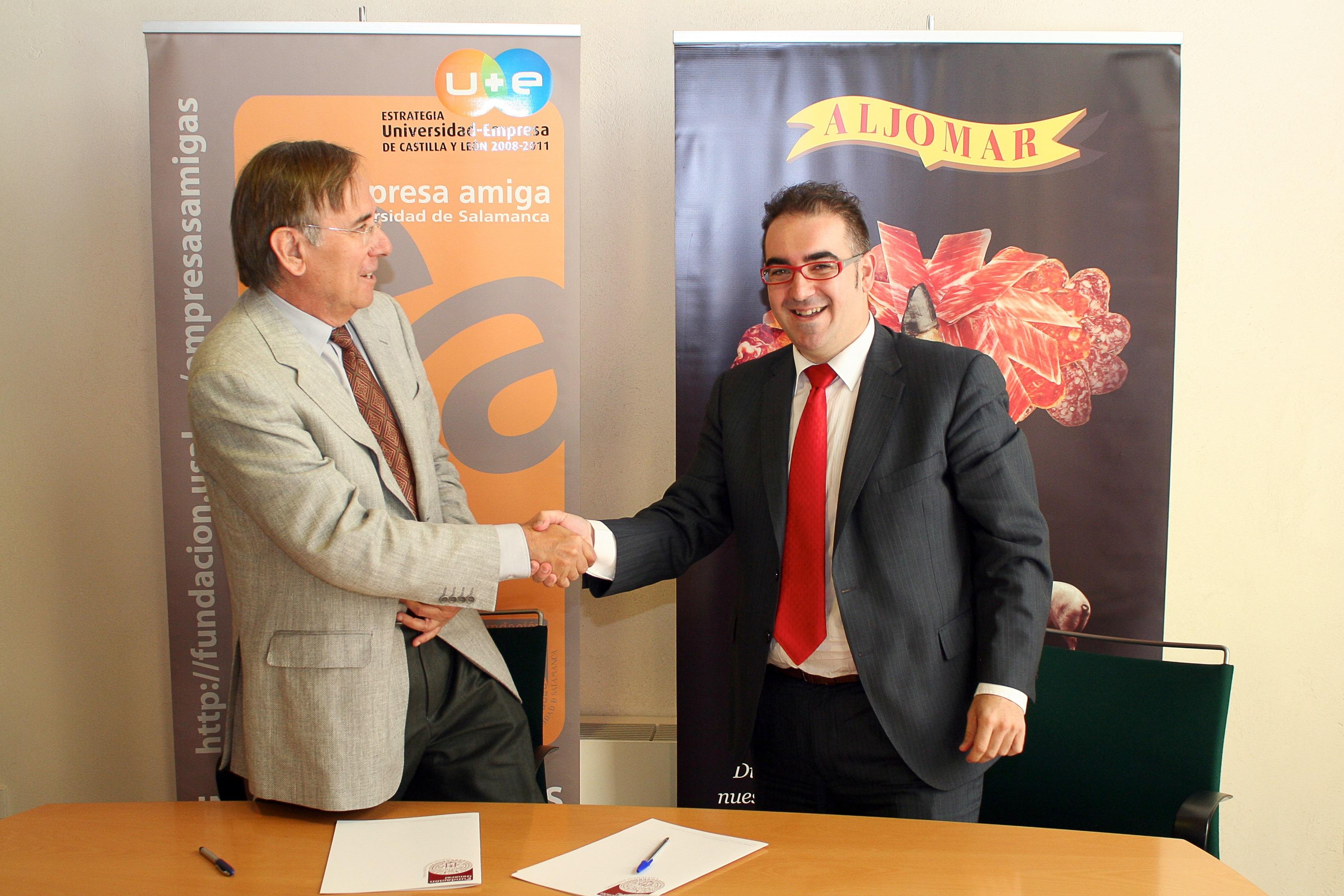 La Fundación General de la Universidad de Salamanca firma un convenio de colaboración con la empresa Aljomar