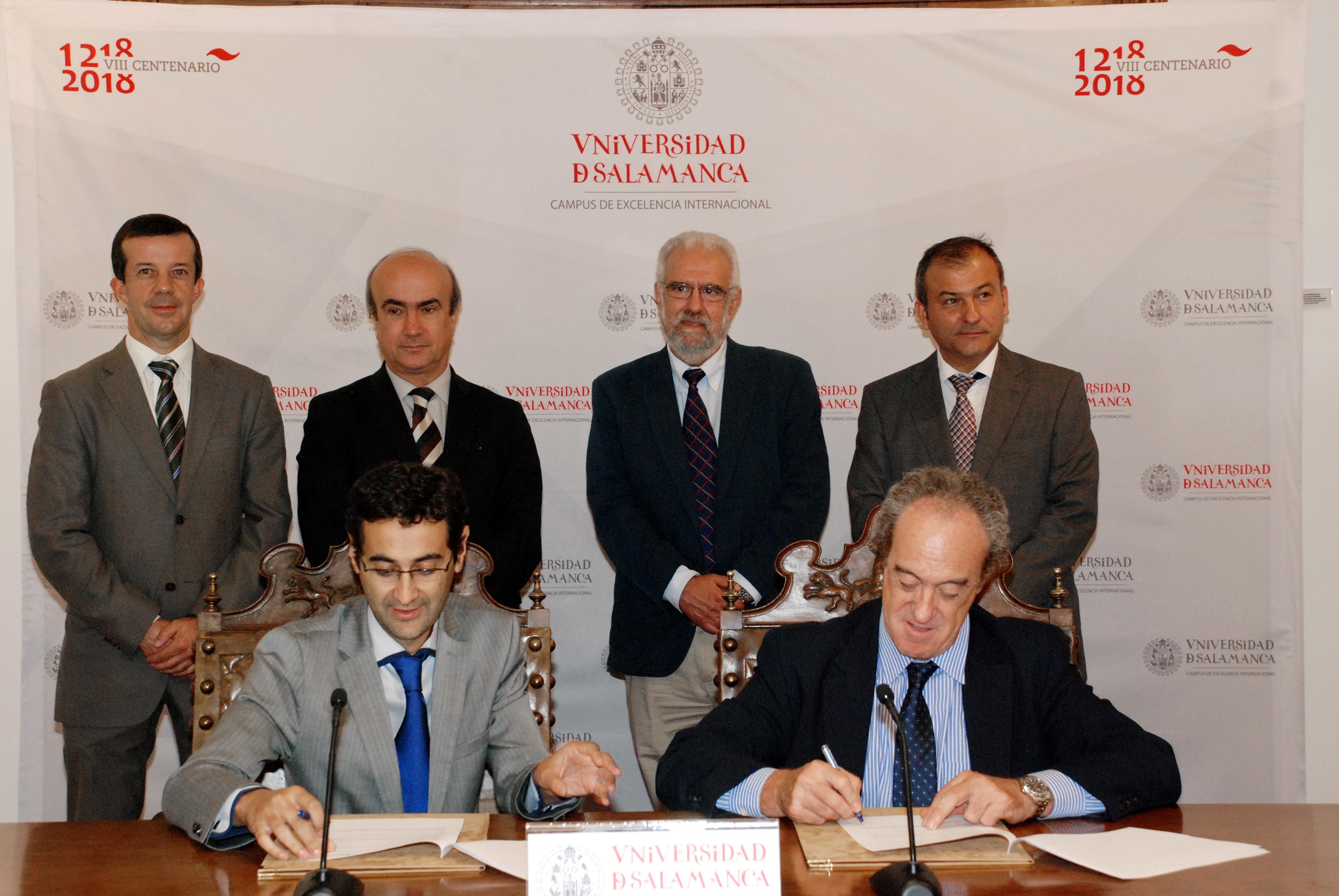 La Universidad de Salamanca y Santillana firman un convenio para el fomento del español en Estados Unidos