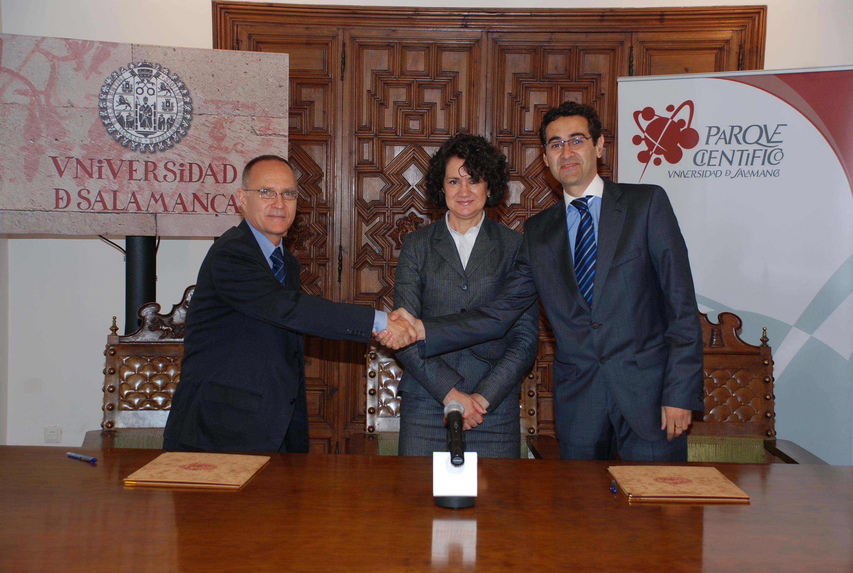 La Fundación Parque Científico de la Universidad de Salamanca suscribe un convenio con la empresa Novatriz Consult