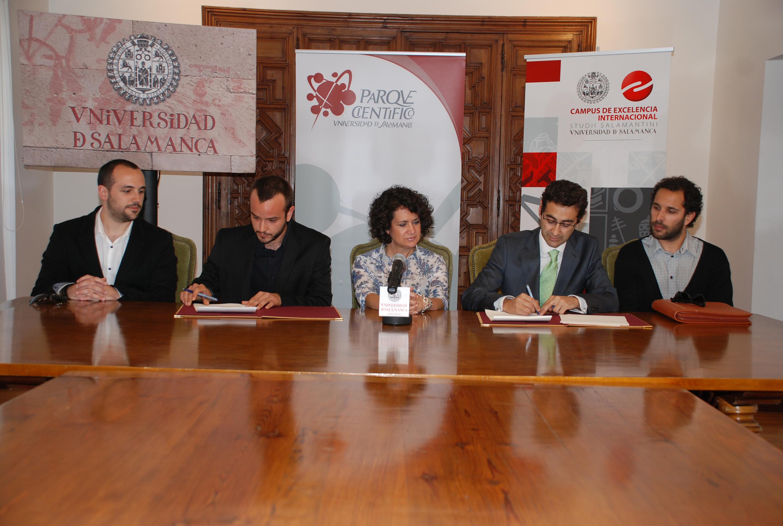 La Fundación Parque Científico de la Universidad de Salamanca suscribe un convenio con el Grupo EGDM