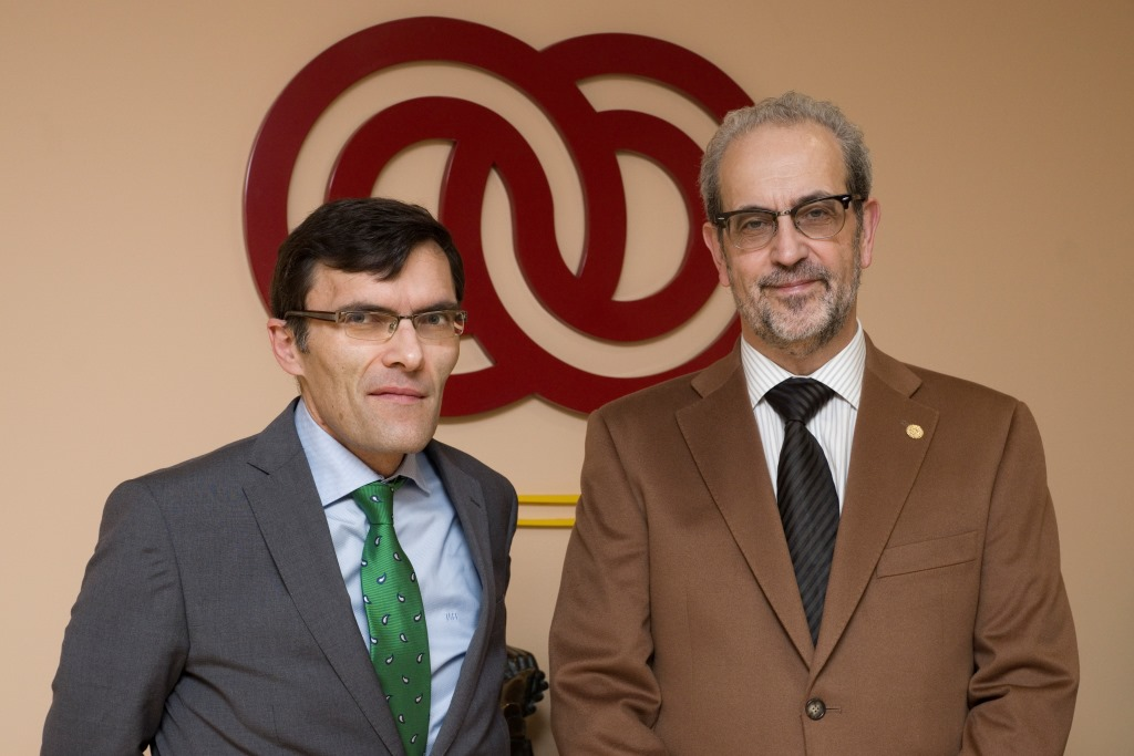 El rector, Daniel Hernández Ruipérez, se reúne con el vicepresidente ejecutivo de la Fundación ONCE, Alberto Durán