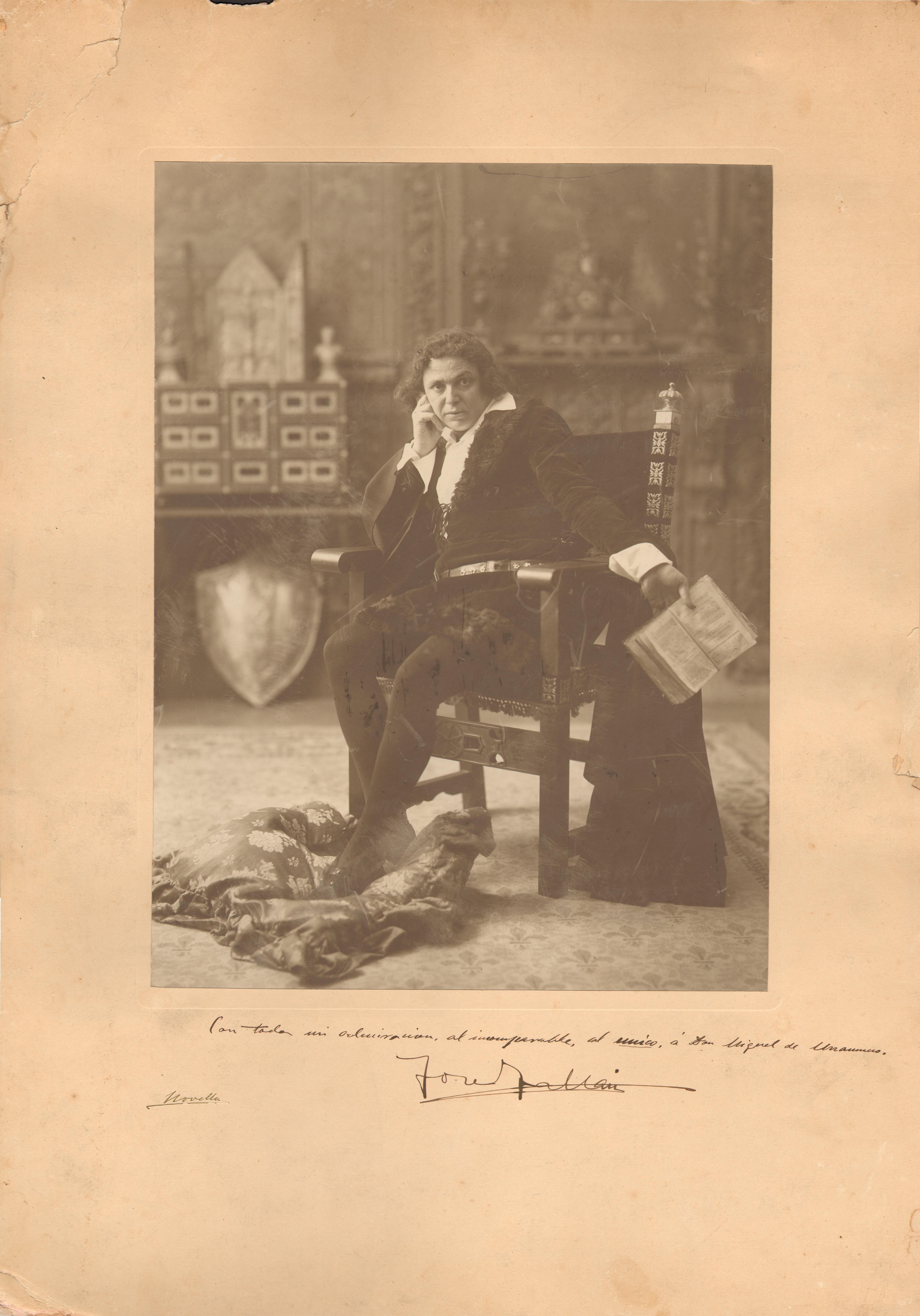 La Casa Museo Unamuno recibe un retrato fotográfico original de José Tallaví