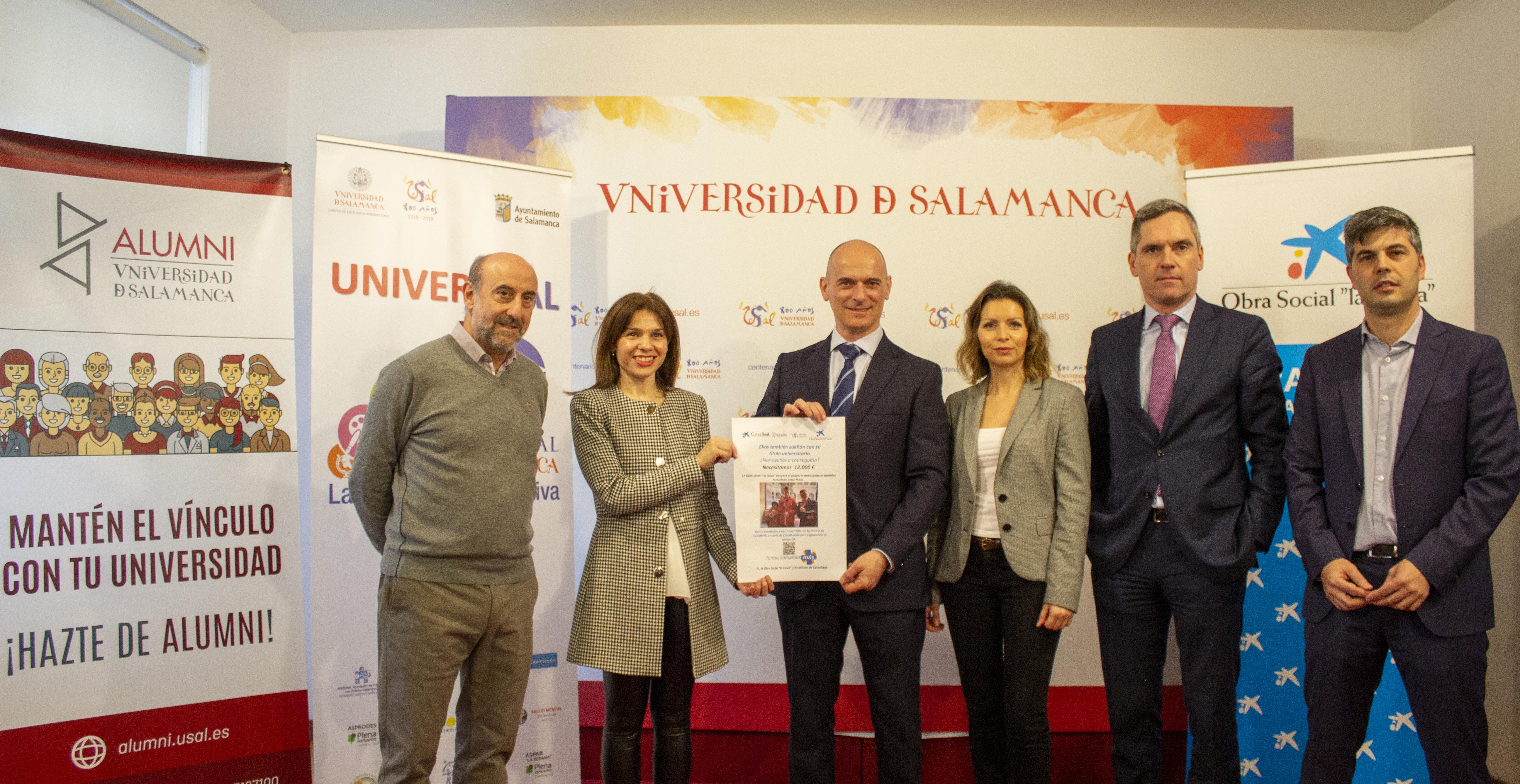 La Universidad de Salamanca y Caixabank firman un convenio para apoyar el proyecto UniverUSAL
