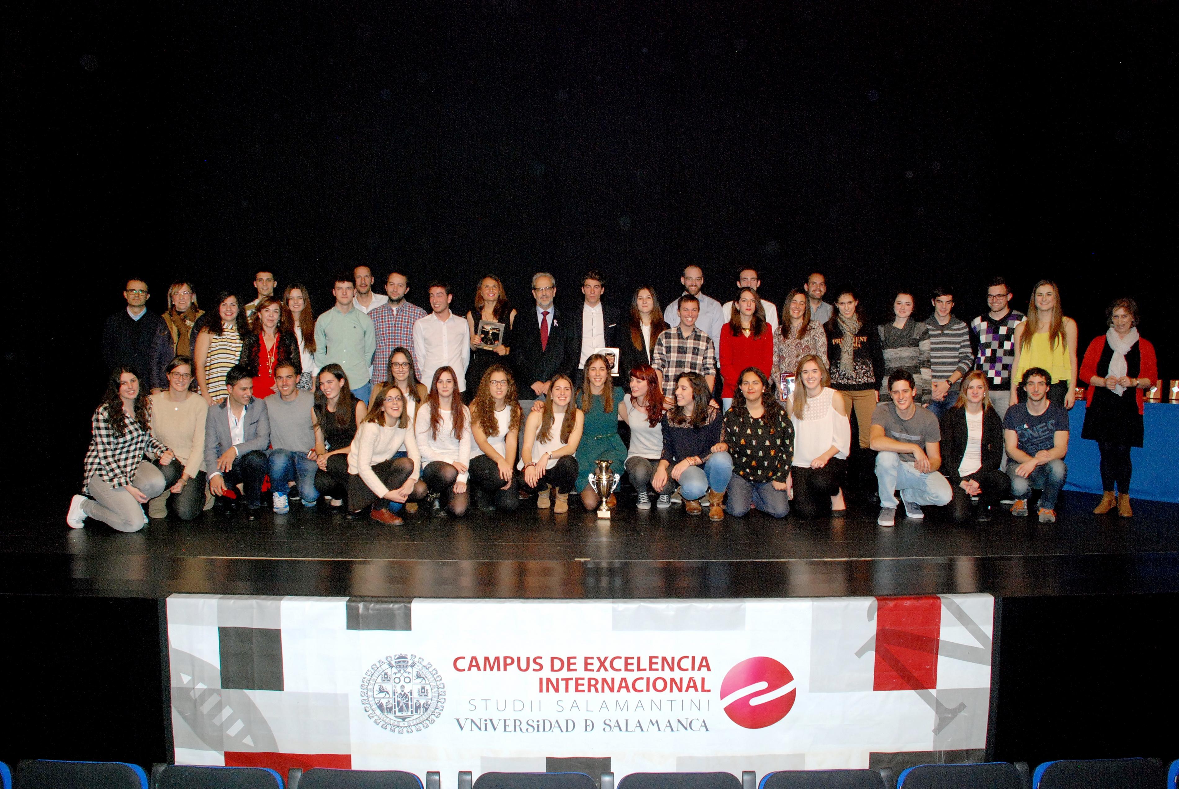 La Universidad de Salamanca entrega los XXVI Premios Anuales del Deporte Universitario 2015