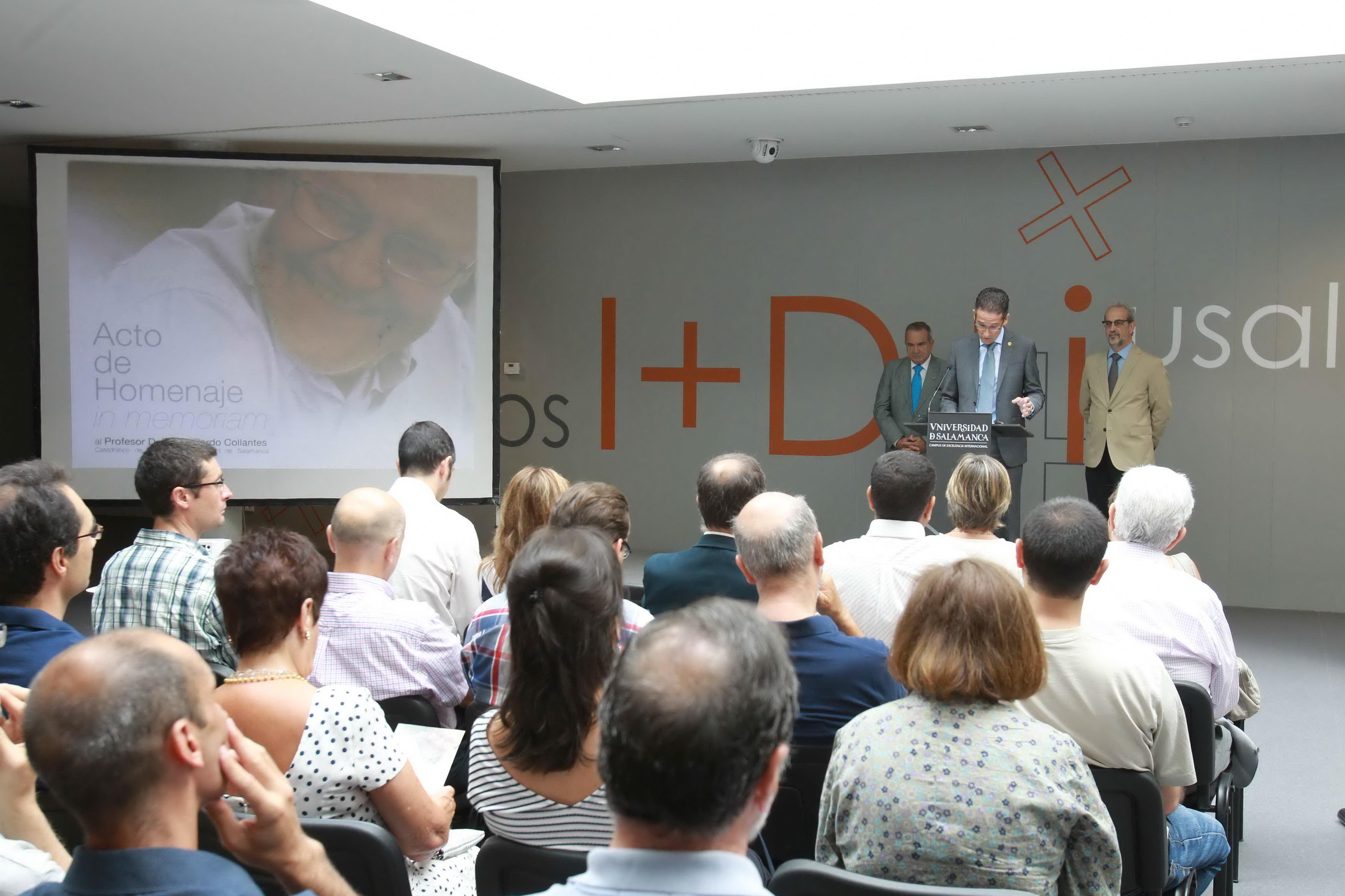 La sección de nanoelectrónica del Edificio I+D+i nombra sus laboratorios 'Daniel Pardo' en tributo al que fuera impulsor de los estudios de Física en la Universidad de Salamanca
