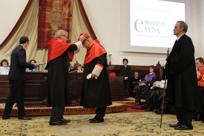 La Universidad de Salamanca nombra doctor honoris causa al catedrático de Derecho Penal Francisco Muñoz Conde