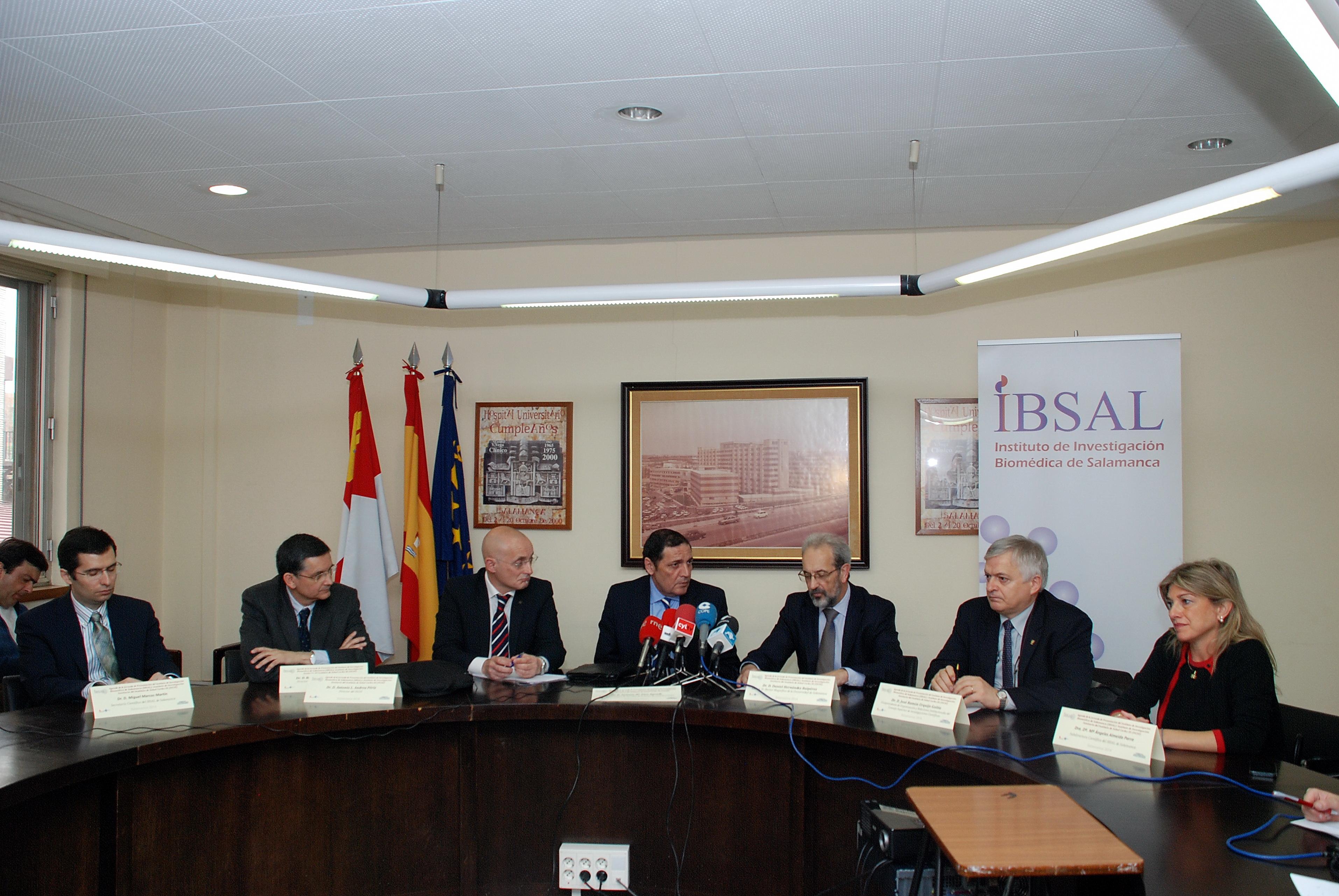 El rector asiste a la jornada de presentación del Instituto de Investigación Biomédica de Salamanca