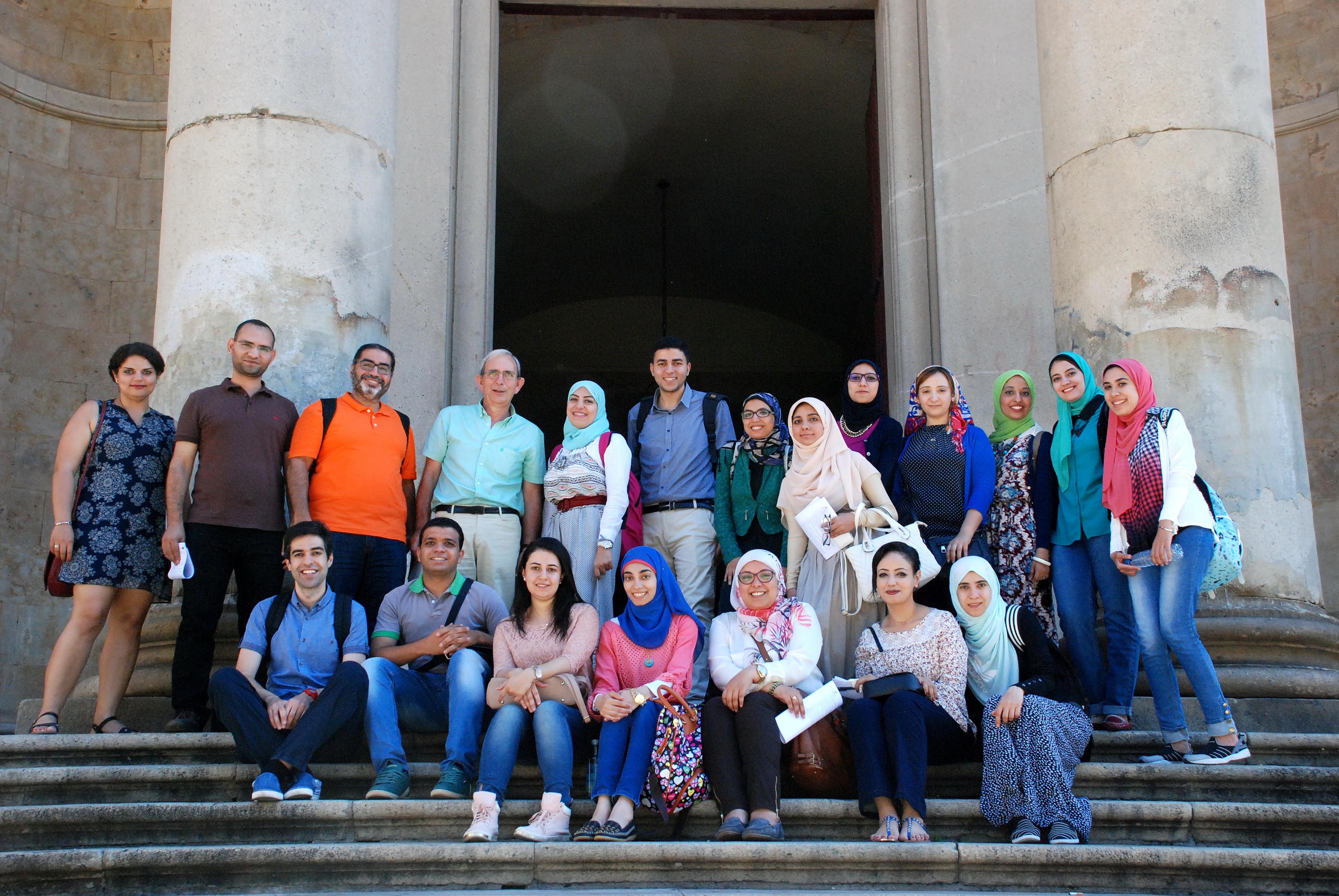 La Universidad de Salamanca recibe a 18 estudiantes procedentes de Egipto para realizar un curso de español
