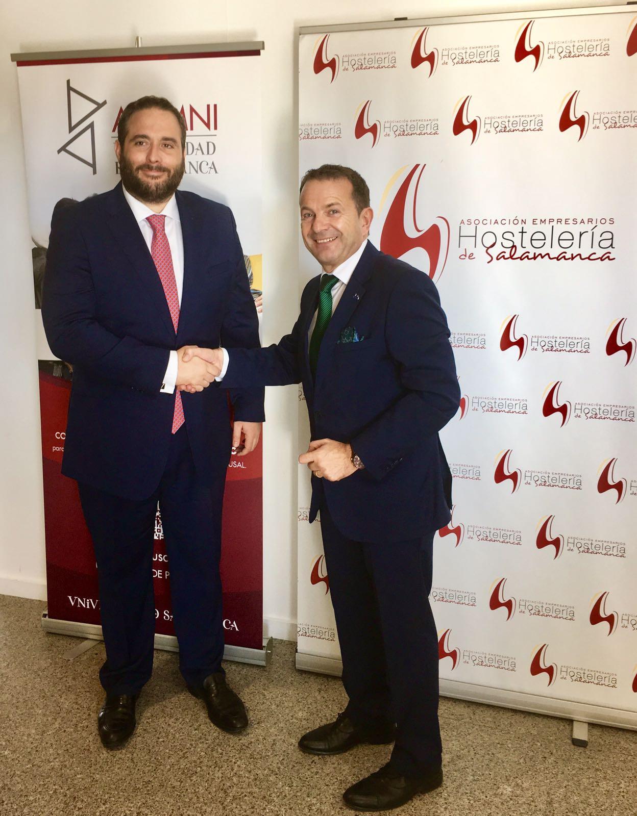 Alumni–USAL firma un convenio con la Asociación de Empresarios de Hostelería de Salamanca para ofrecer nuevos beneficios a sus socios