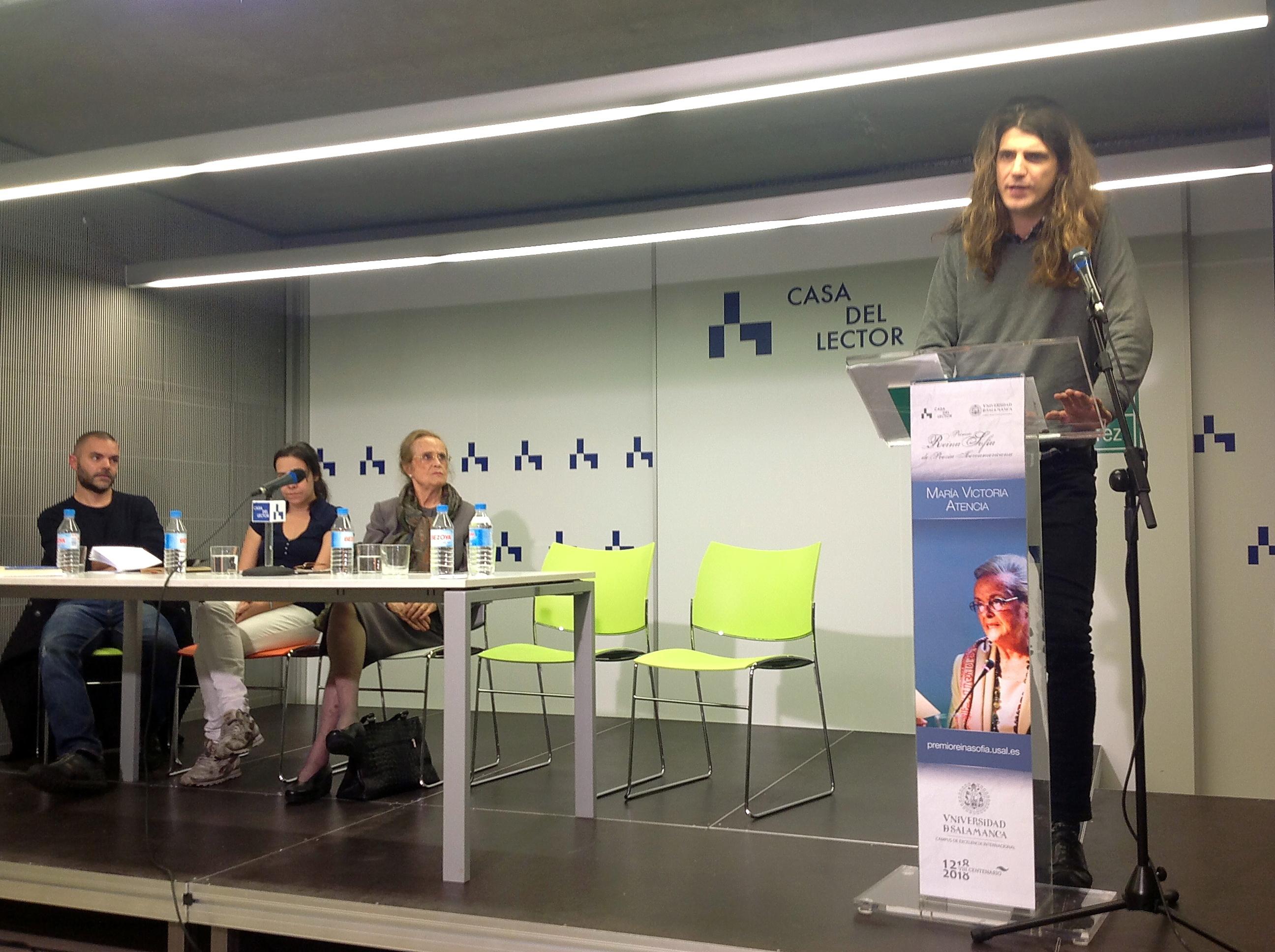 La Universidad de Salamanca reúne en Casa del Lector a tres generaciones de poetas en torno a la obra de María Victoria Atencia, XXIII Premio Reina Sofía de Poesía Iberoamericana