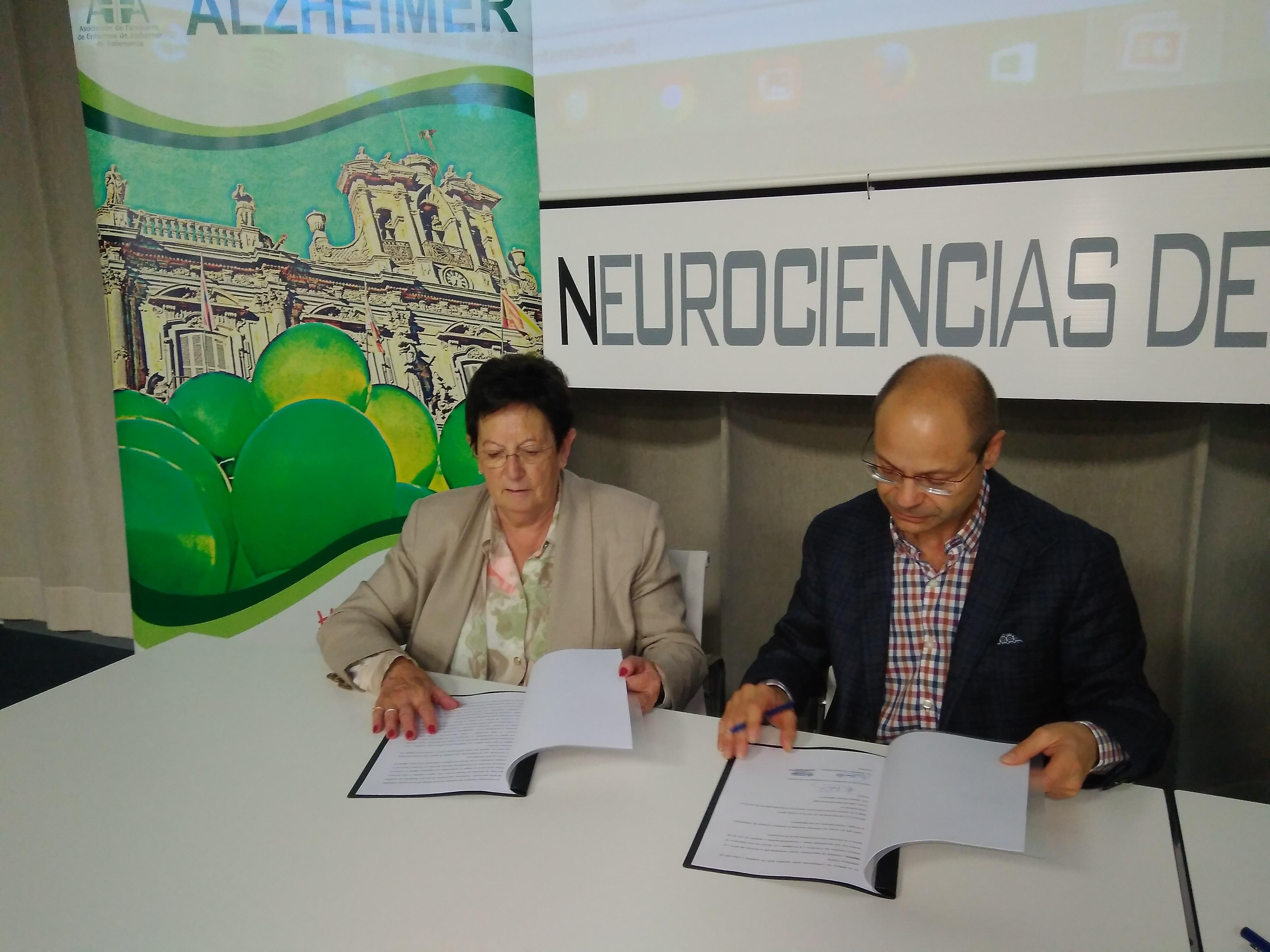 El Banco de Tejidos Neurológicos del INCYL suscribe un convenio con la Asociación de Familiares de Enfermos de Alzheimer de Salamanca