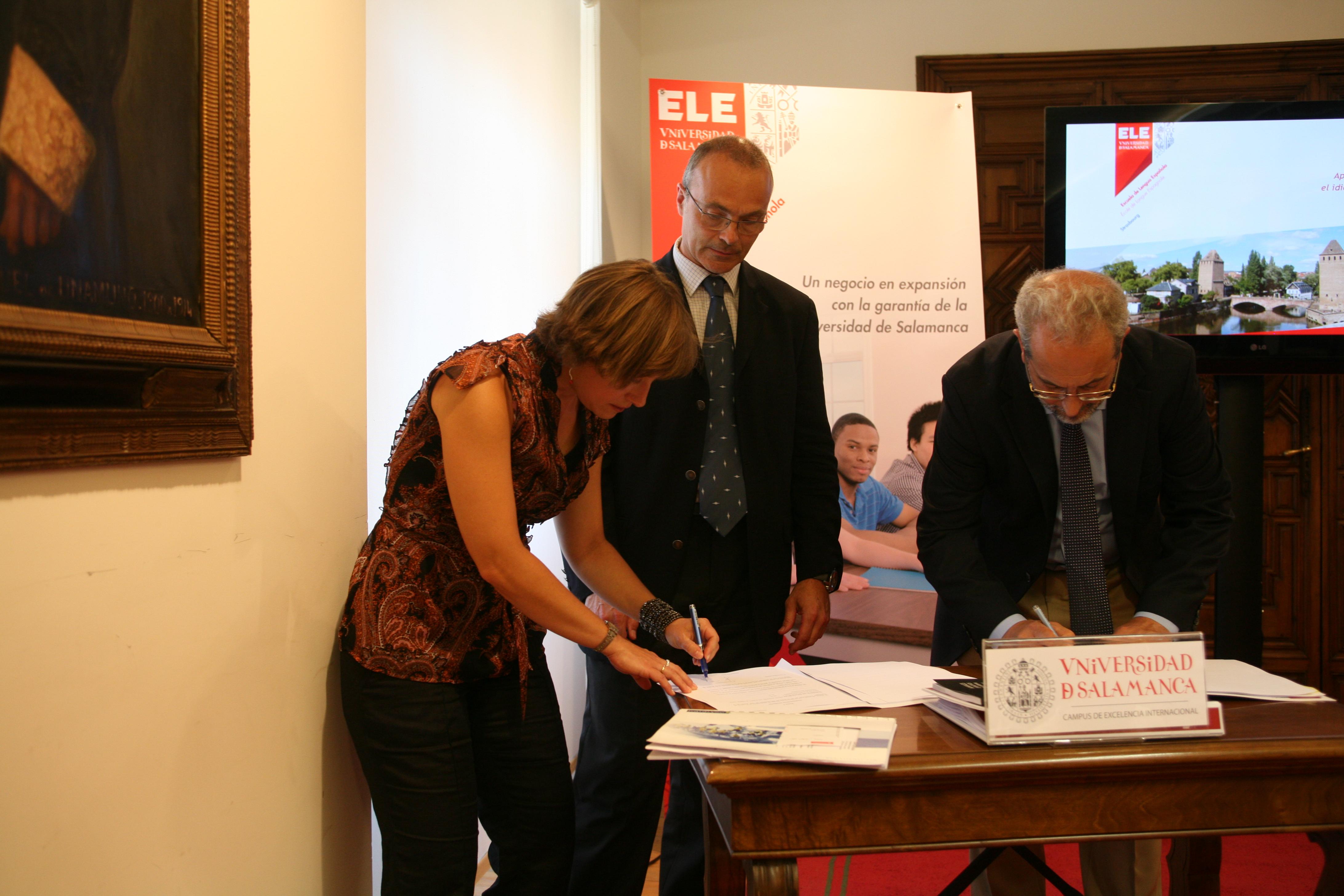 La ciudad de Estrasburgo acogerá la primera franquicia de Escuelas de Lengua Española de la Universidad de Salamanca