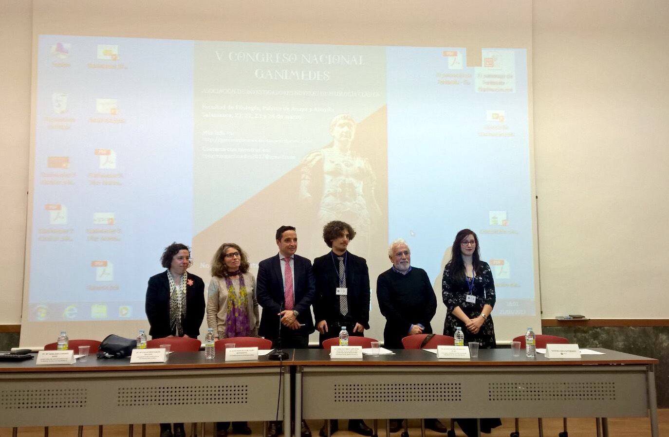 El vicerrector de Investigación y Transferencia inaugura en la Facultad de Filología el V Congreso Nacional Ganimedes