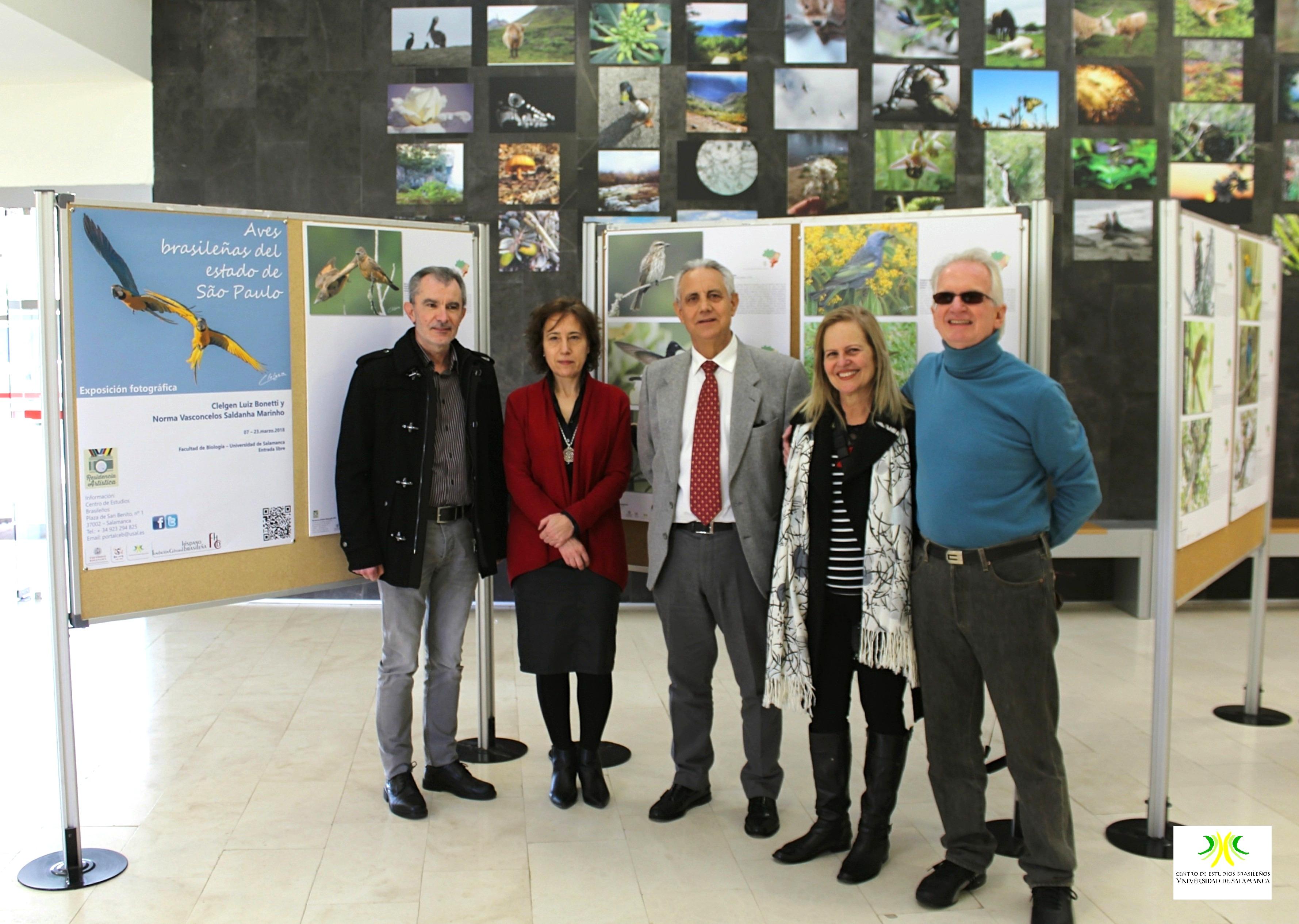 El Centro de Estudios Brasileños inaugura una exposición sobre avifauna del estado de São Paulo en la Facultad de Biología de la Universidad de Salamanca