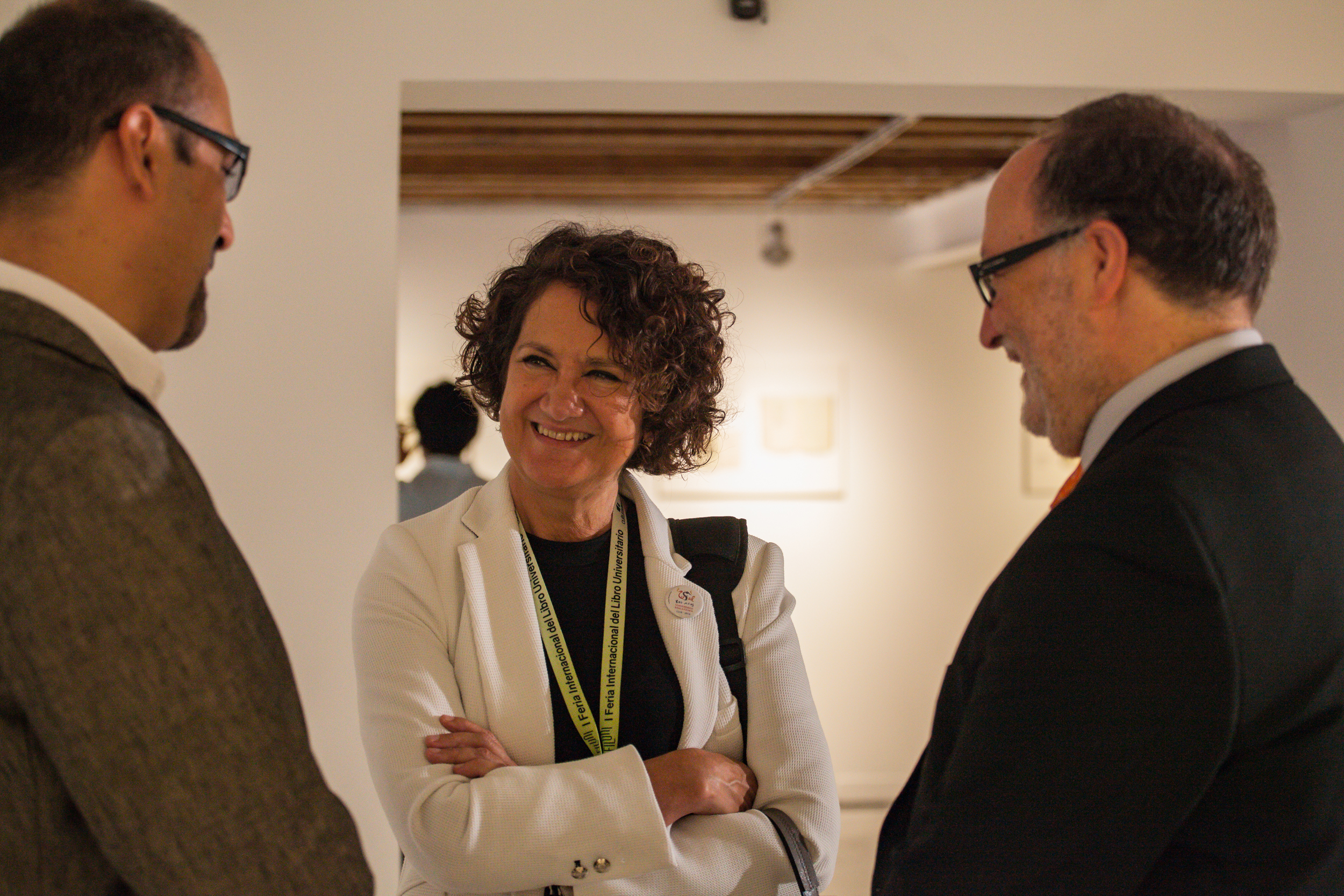 José Wolffer, María Ángeles Serrano y Mariano Esteban.