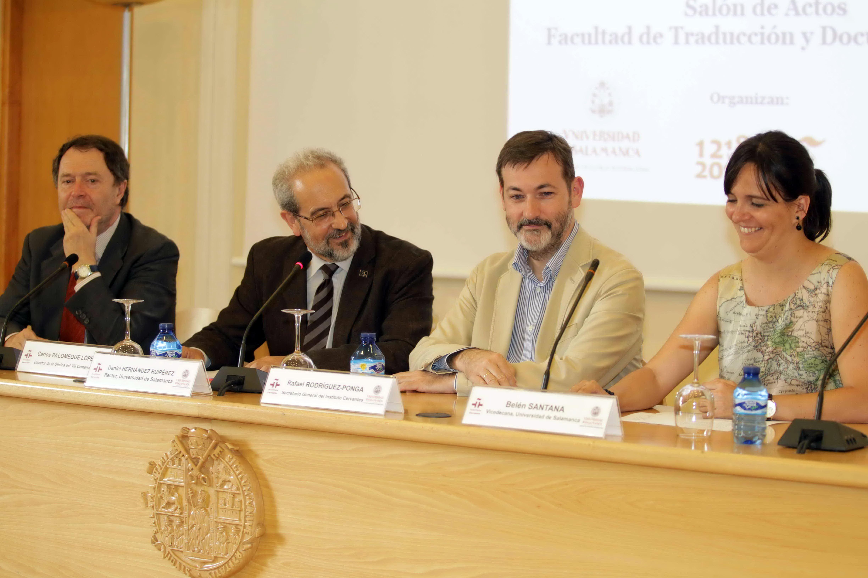 El rector preside una mesa redonda sobre el español y traducción en el marco de la reunión de directores del Instituto Cervantes