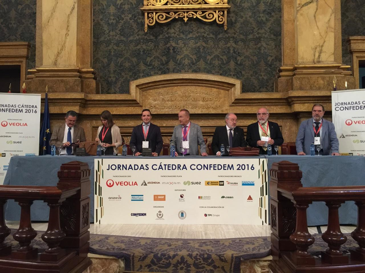 El vicerrector de Investigación participa en las jornadas de la Confederación Española de Empresarios de la Minería