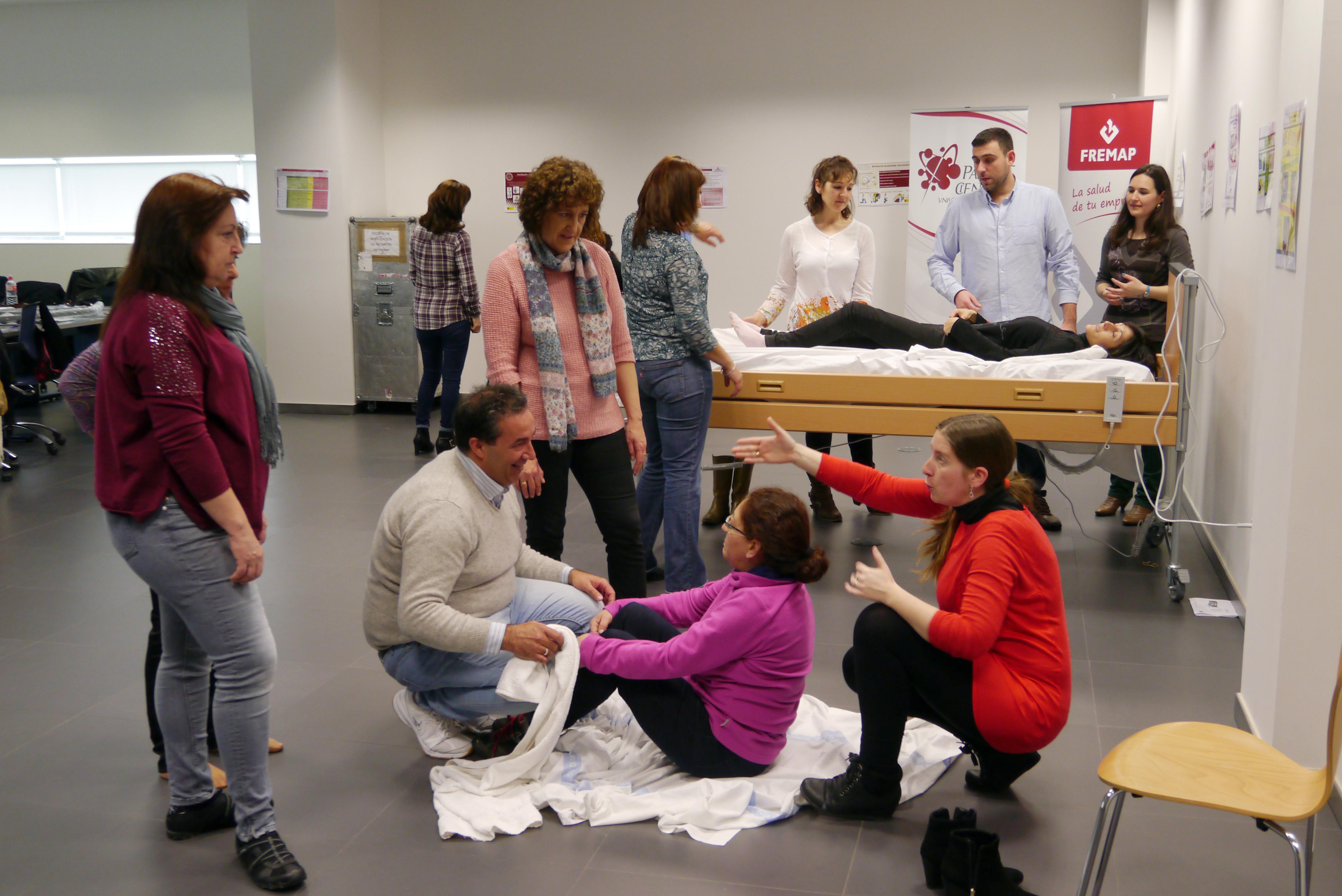 Más de veinte profesionales asociados a FREMAP participan en el taller de 'Movilización de Pacientes con Movilidad Reducida' celebrado en el Parque Científico