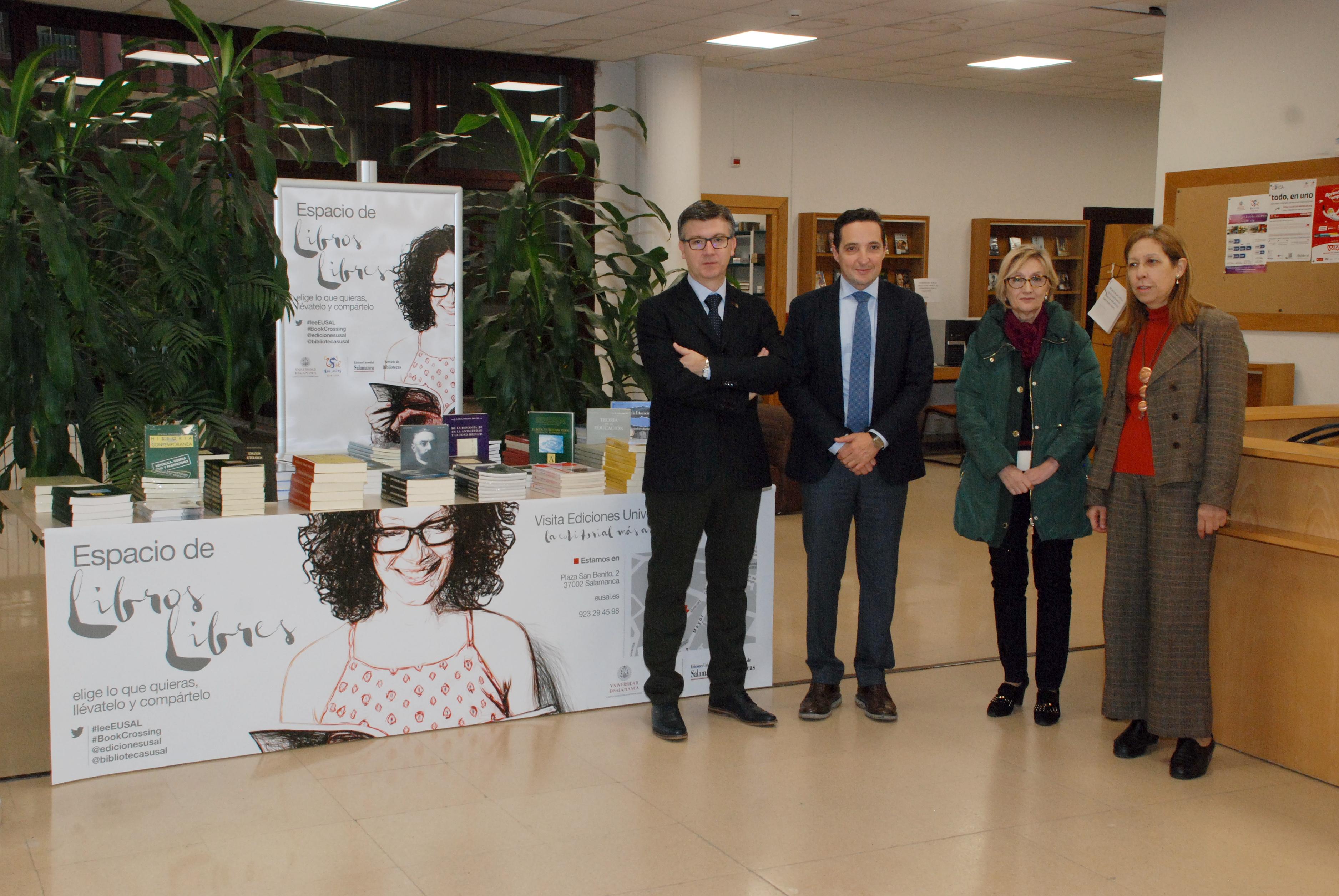Ediciones Universidad de Salamanca y el Servicio de Bibliotecas ponen en marcha la campaña 'Libros Libres'