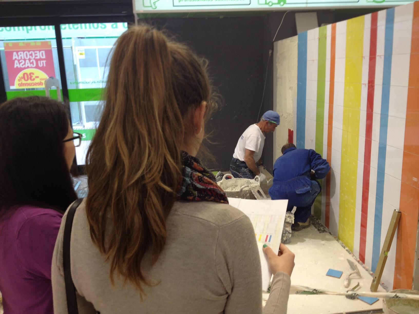 Alumnos del Máster en Arquitectura y Diseño de Interiores comienzan a mostrar sus proyectos en la tienda de Leroy Merlin en Salamanca