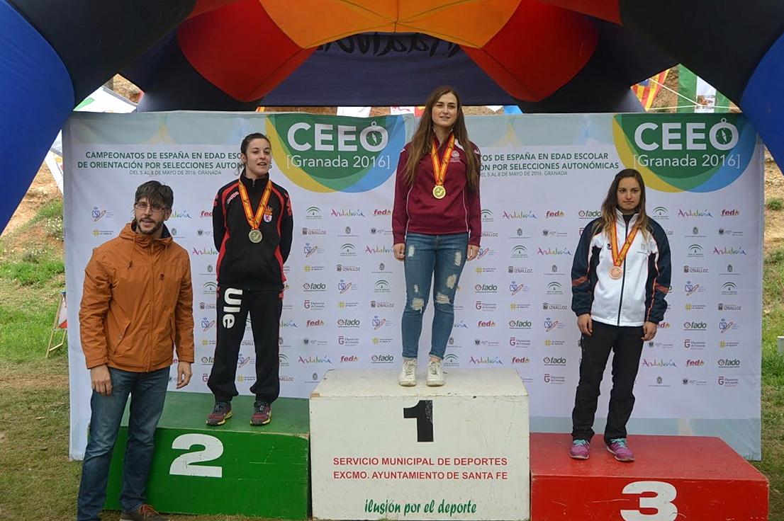 La deportista de la Universidad de Salamanca Marta Guijo consigue el oro en larga distancia en el Campeonato Nacional de Orientación