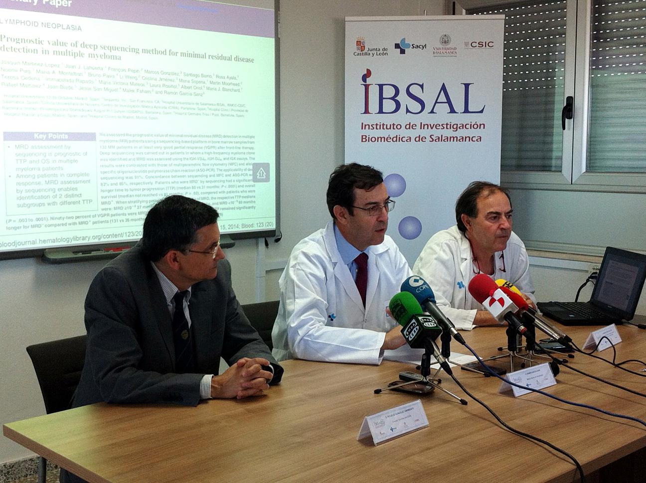 Investigadores del Instituto de Investigación Biomédica de Salamanca desarrollan una nueva tecnología que permite prever recaídas en pacientes con mieloma múltiple