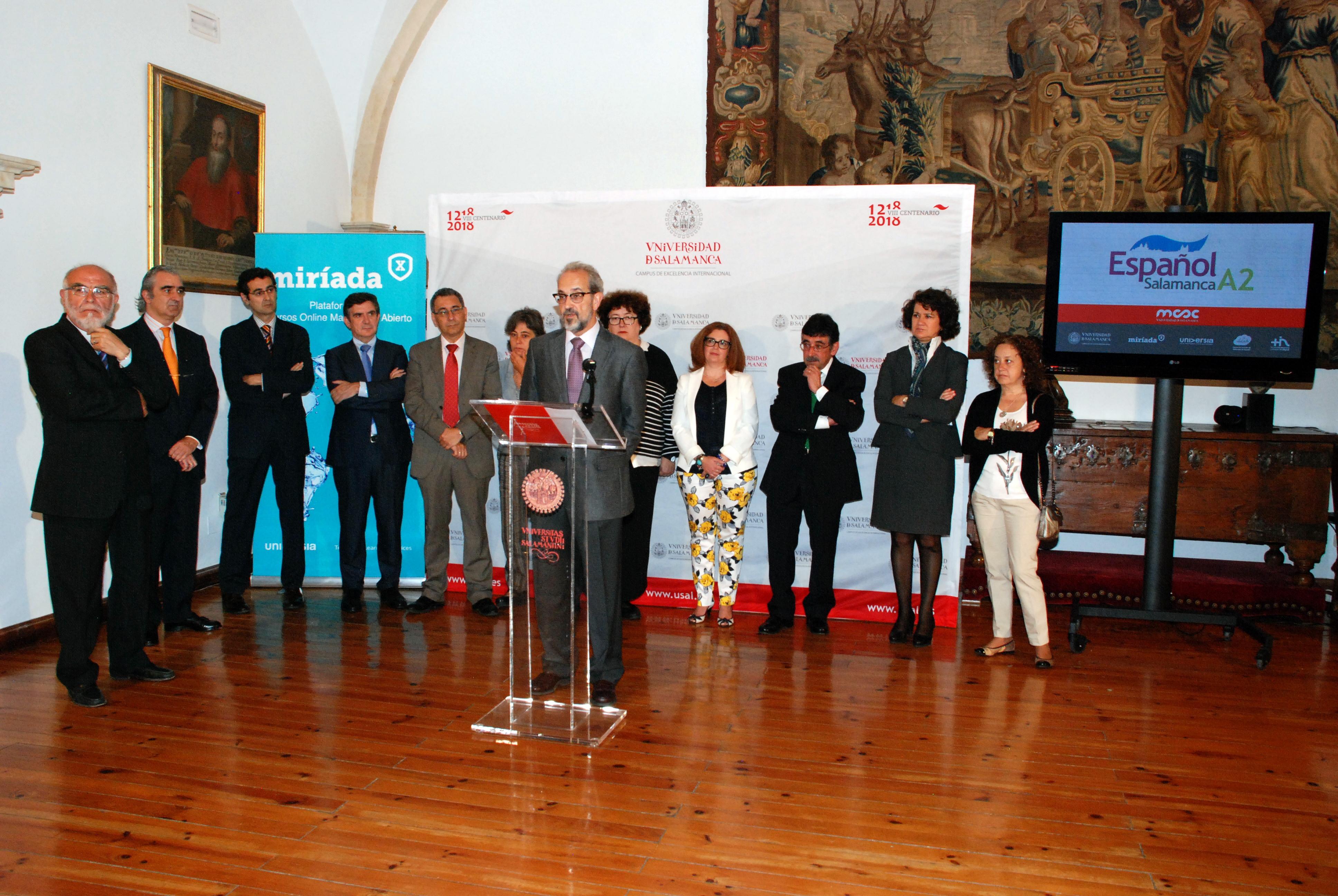 La Universidad de Salamanca presenta su primer MOOC de enseñanza del español, que se impartirá en colaboración con Universia a través de la plataforma Miríada X