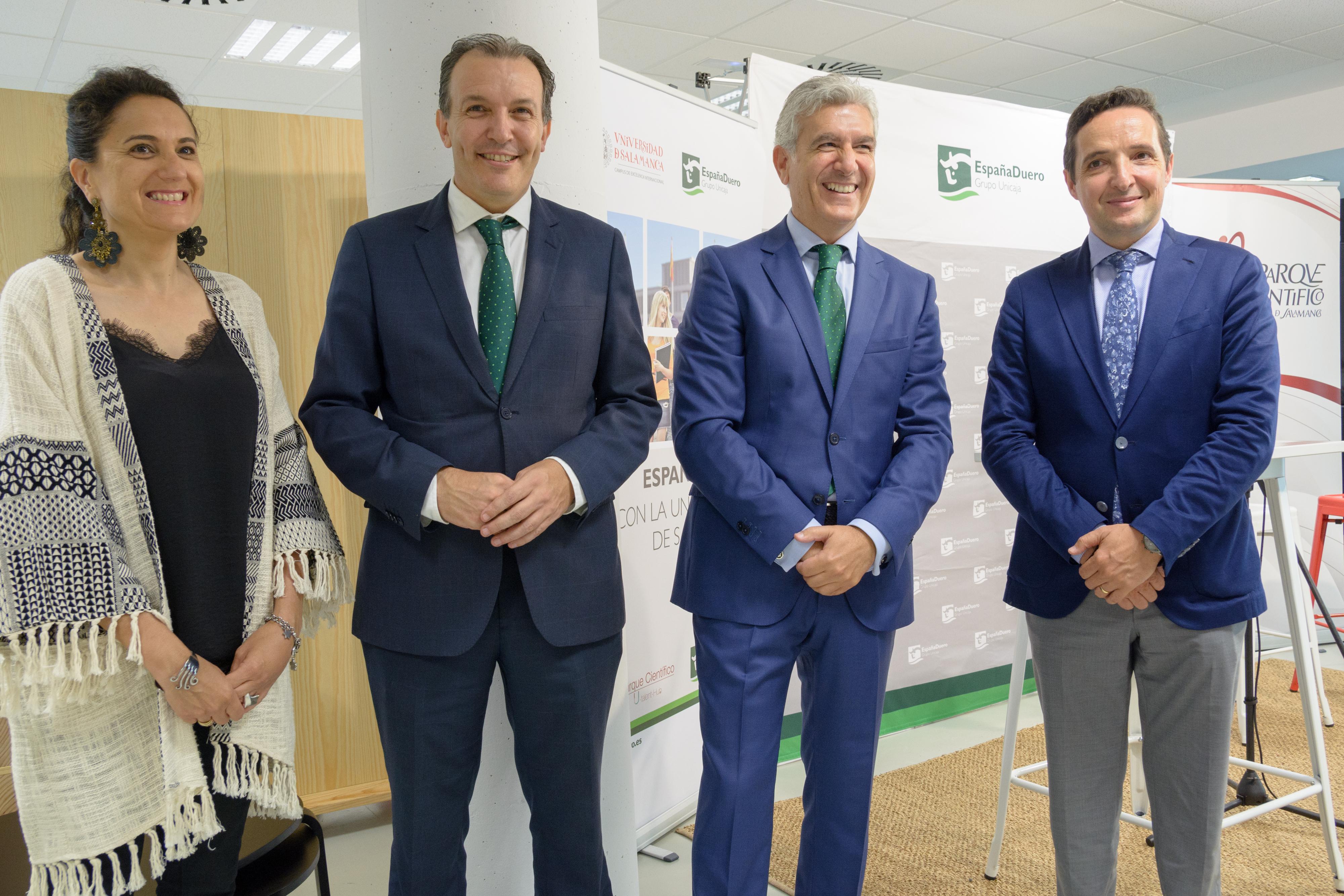 El Parque Científico de la Universidad de Salamanca y EspañaDuero renuevan su convenio para potenciar el emprendimiento y la innovación empresarial
