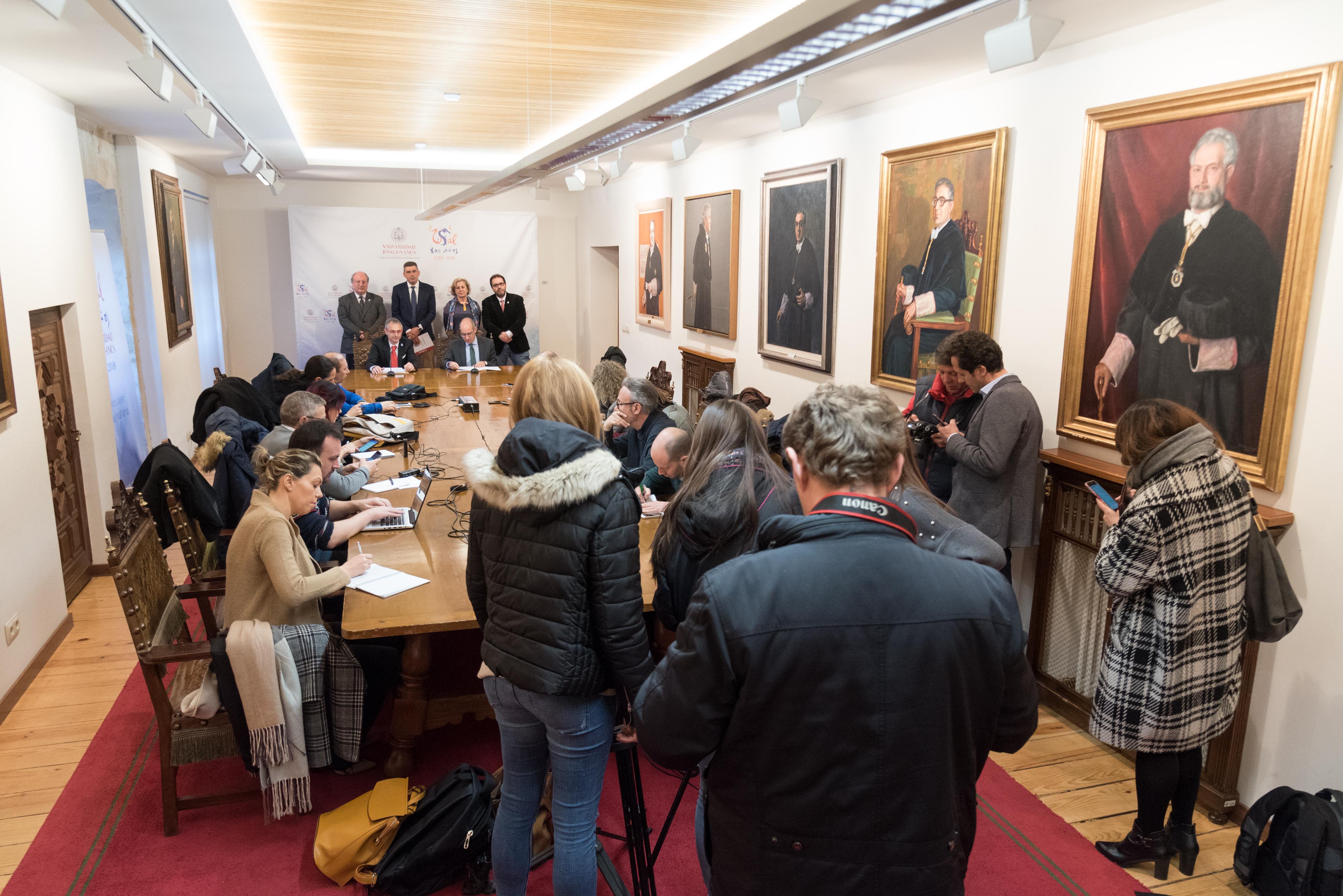 La Universidad de Salamanca y la Diputación Provincial suscriben un protocolo de colaboración con motivo del VIII Centenario