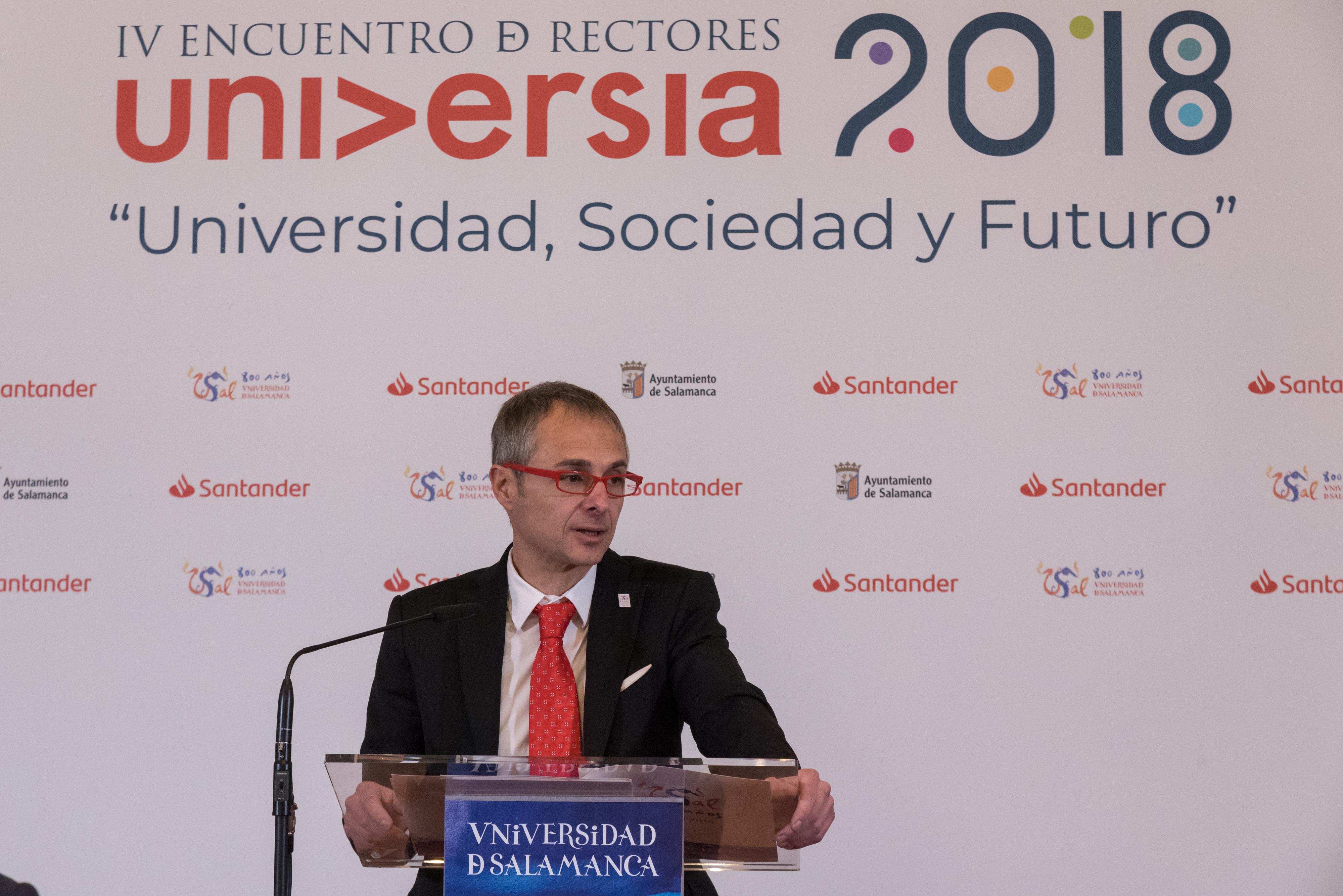 El IV Encuentro Internacional de Rectores Universia hará de Salamanca la capital mundial de la educación superior