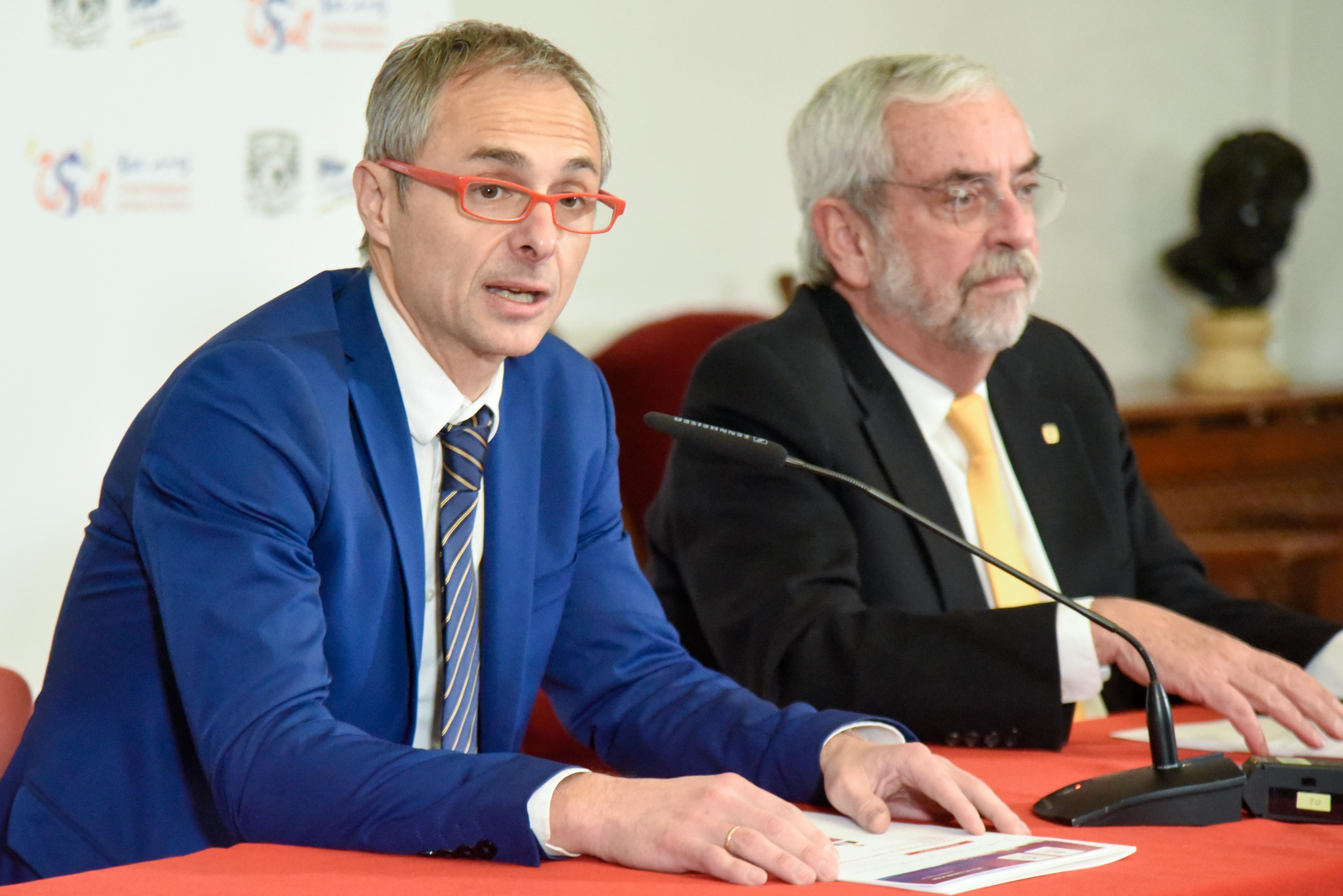 Los rectores de las universidades de Salamanca y Nacional Autónoma de México presentan la Semana de la UNAM en la USAL