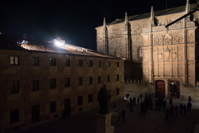 La inauguración de la restauración de la Fachada Rica de la Universidad de Salamanca impulsa el eje estratégico de recuperación del Patrimonio del VIII Centenario