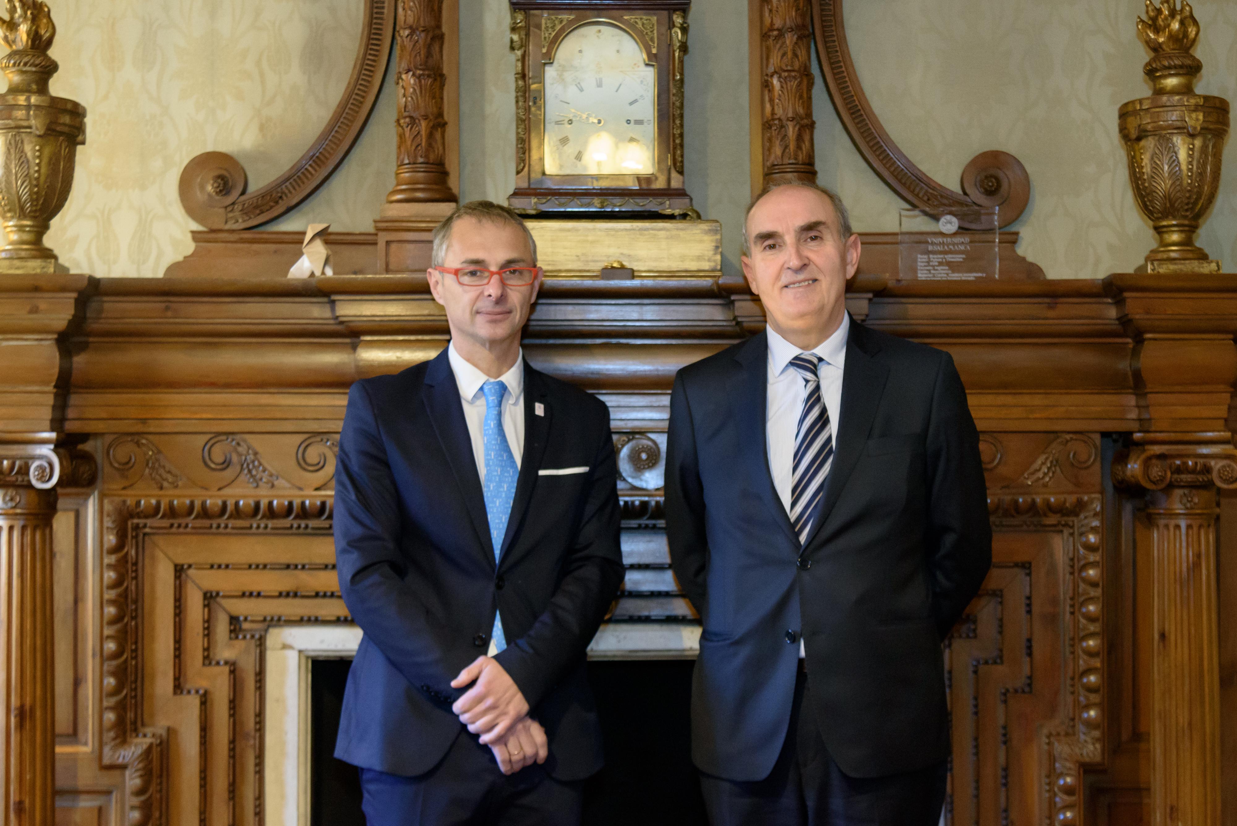 El rector recibe a Tomás Quintana, Procurador del Común de Castilla y León