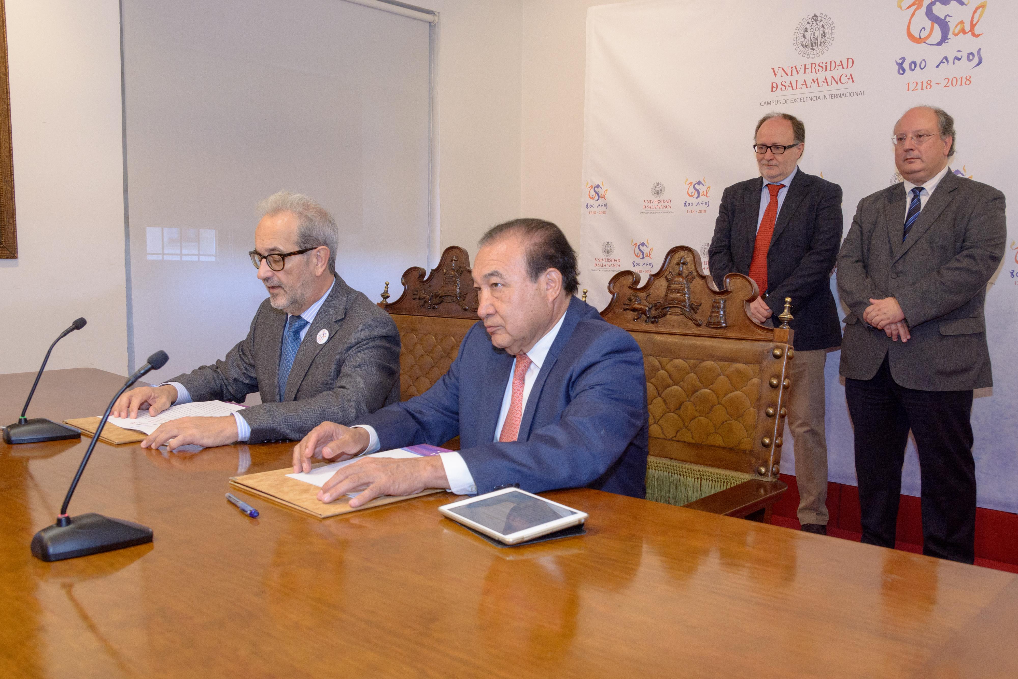 Presentación acuerdo Universidad de Salamanca-Notimex