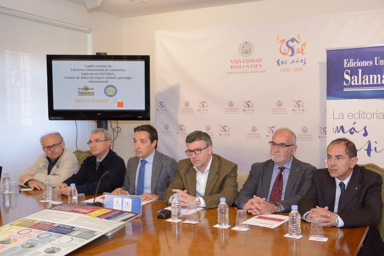 Cuatro revistas de Ediciones Universidad de Salamanca ingresan en la prestigiosa base de datos ESCI/WoS